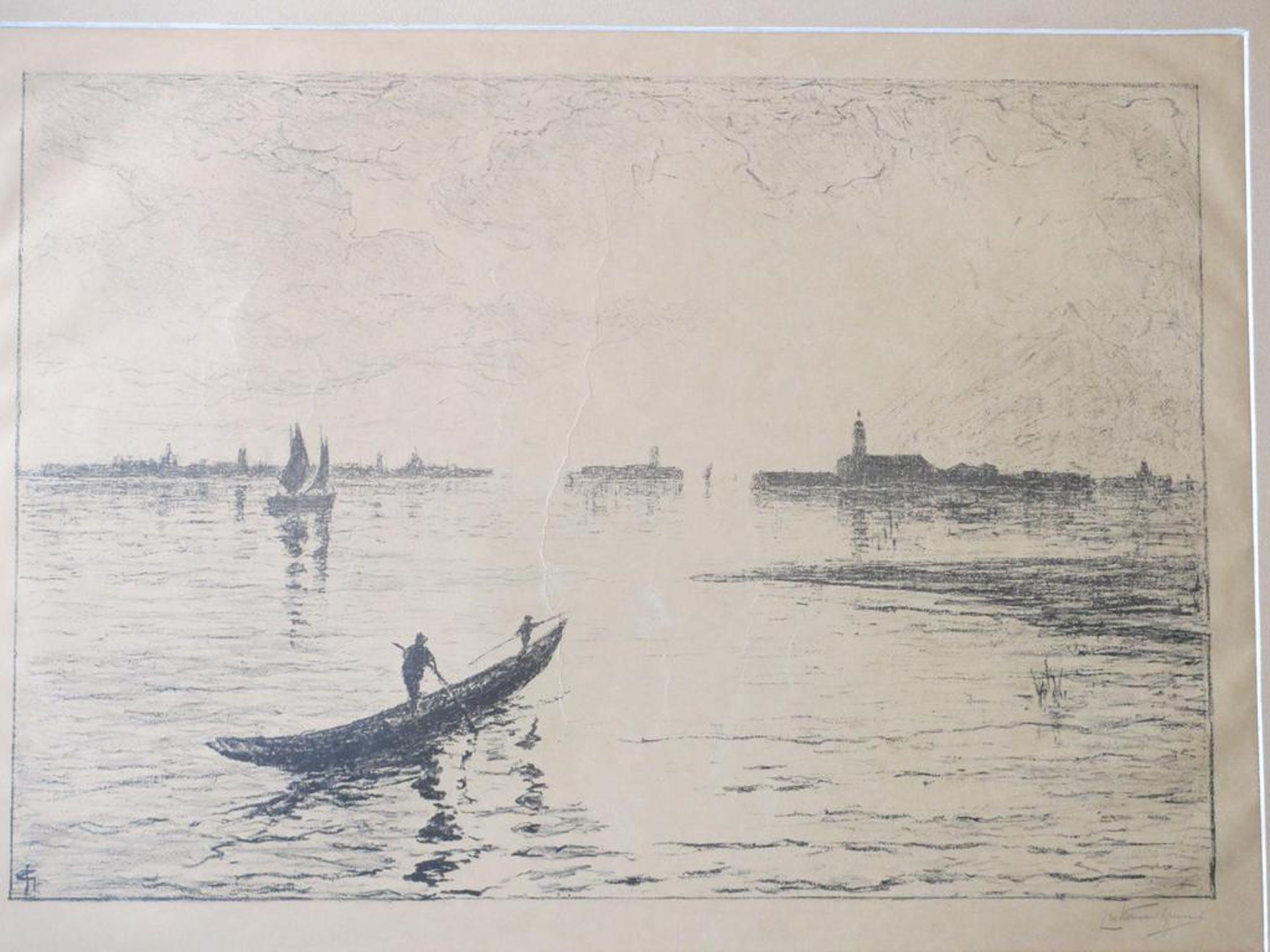 C.N.Storm van 's-Gravensande, Boten voor Venetië, Litho kopen? Bied vanaf 35!