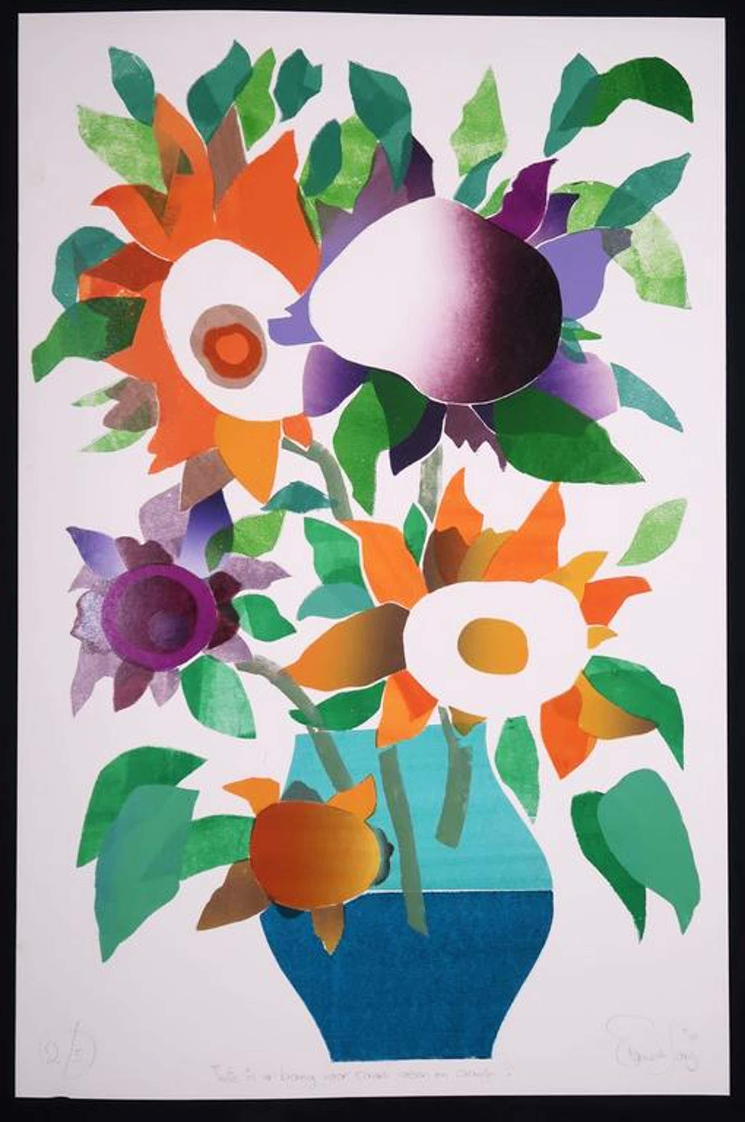 Frans de Jong: Houtsnede, Wie is er bang voor paars groen en oranje? kopen? Bied vanaf 35!