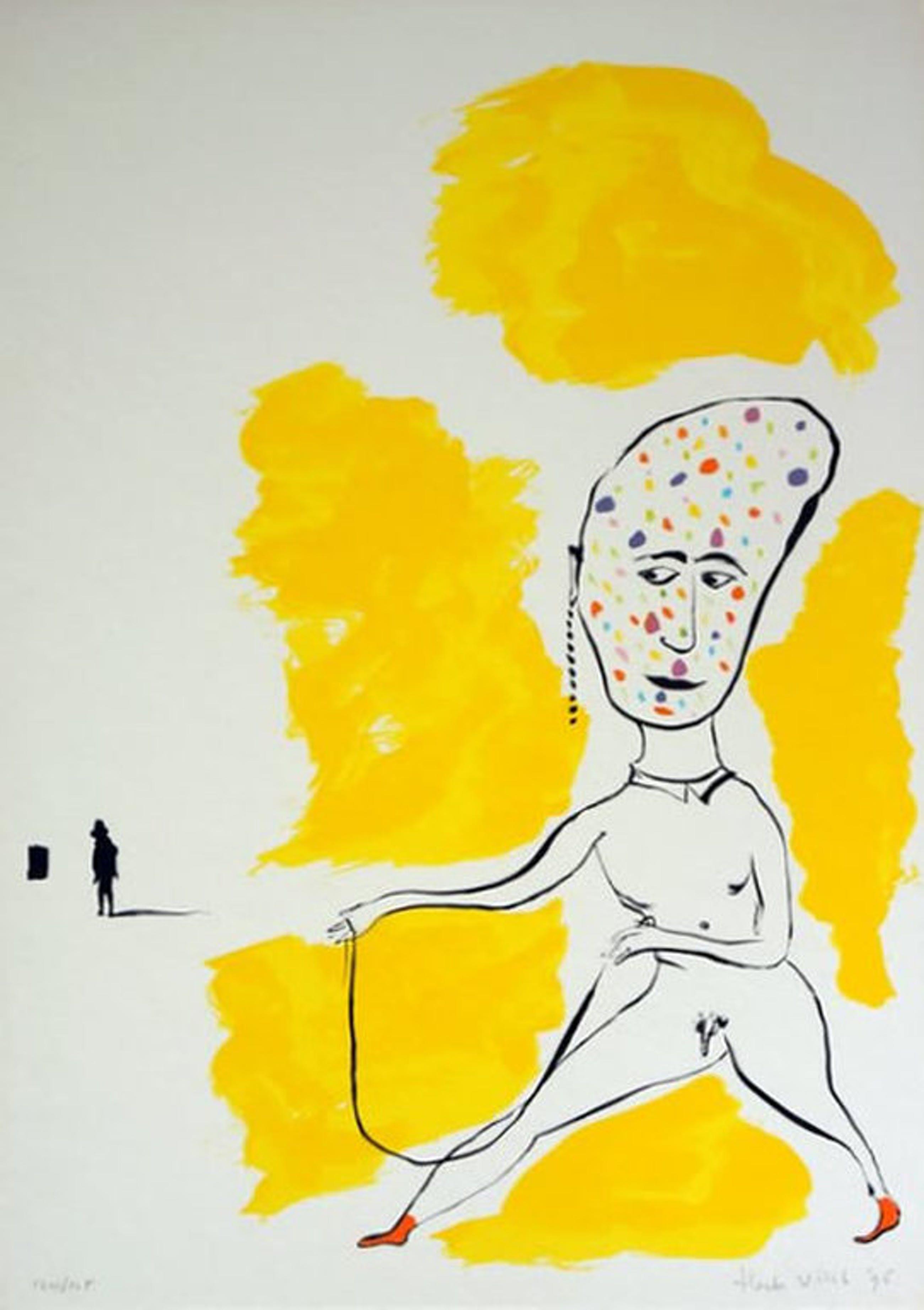Henk Visch kleurenlitho 'Man' 1996 kopen? Bied vanaf 70!
