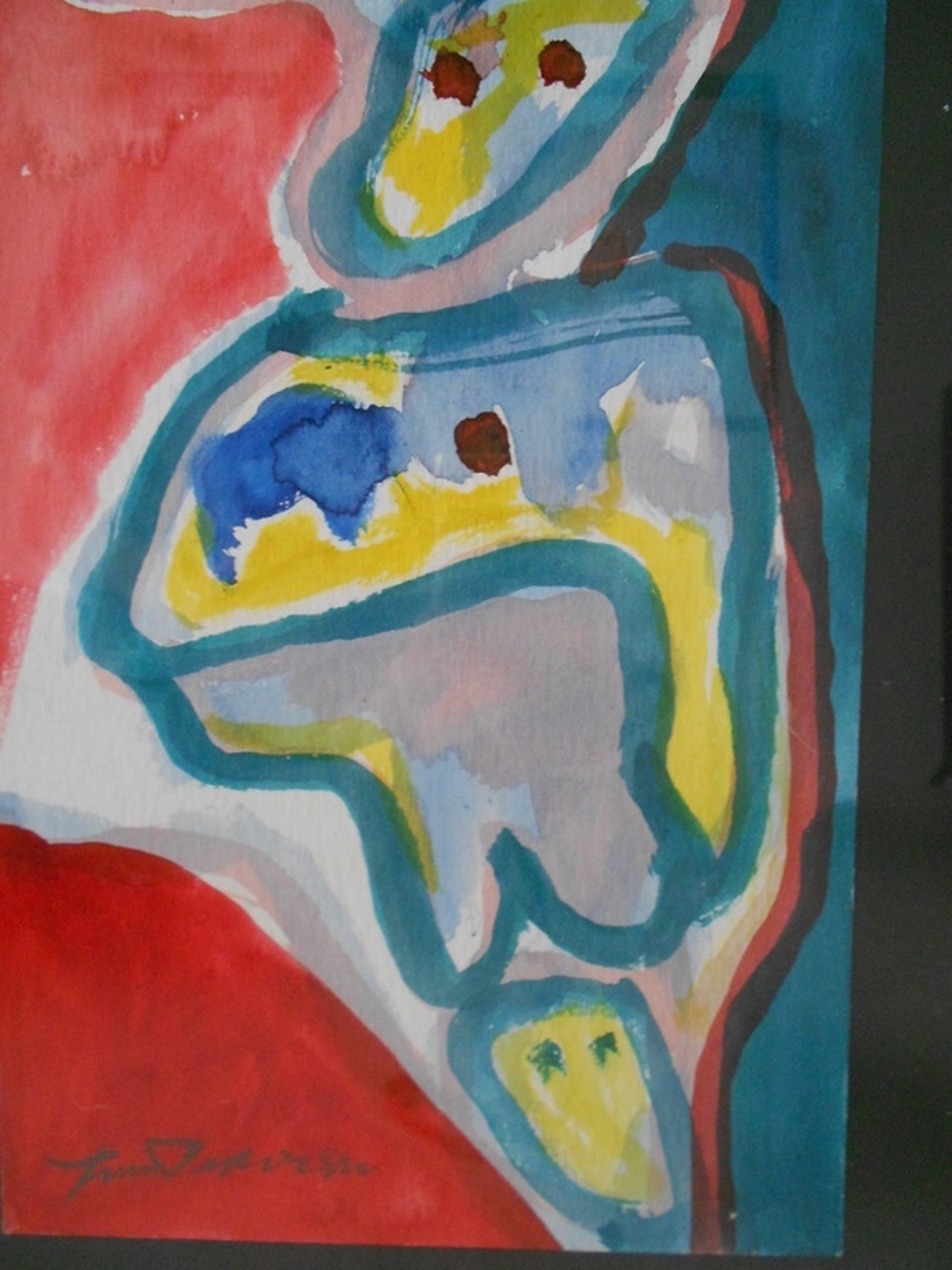 Finn Pedersen originele aquarel, handgesigneerd kopen? Bied vanaf 150!