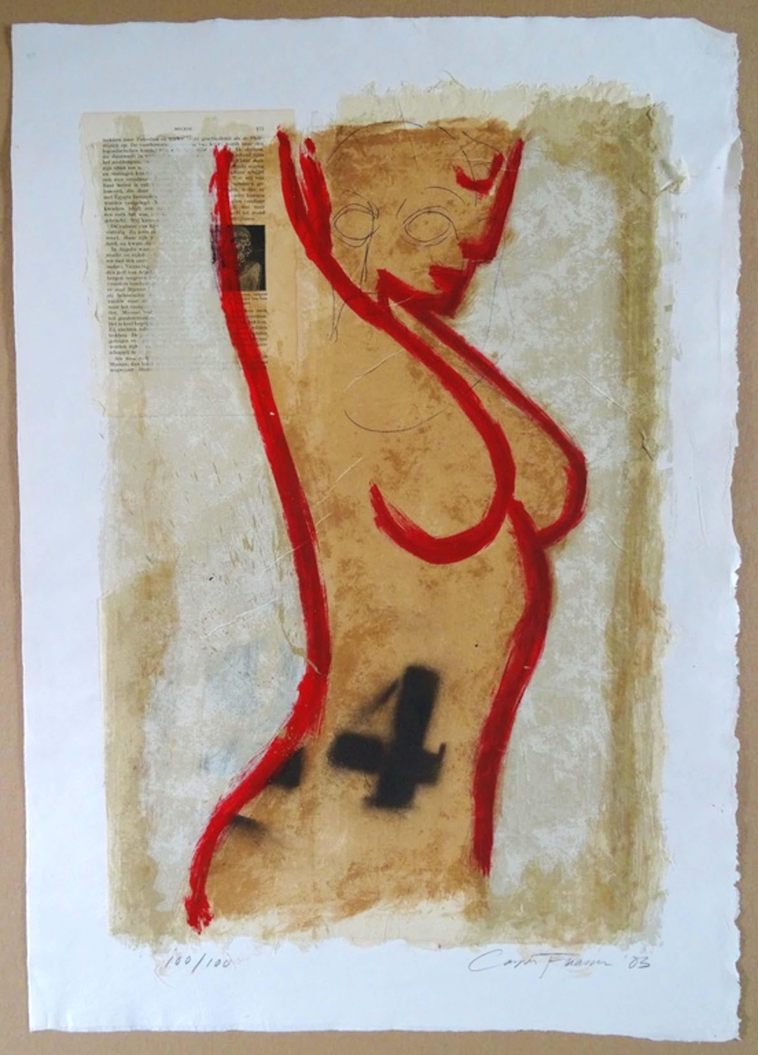 Casper Faassen, Zeefdruk / Collage, ''Desnudo'' kopen? Bied vanaf 240!