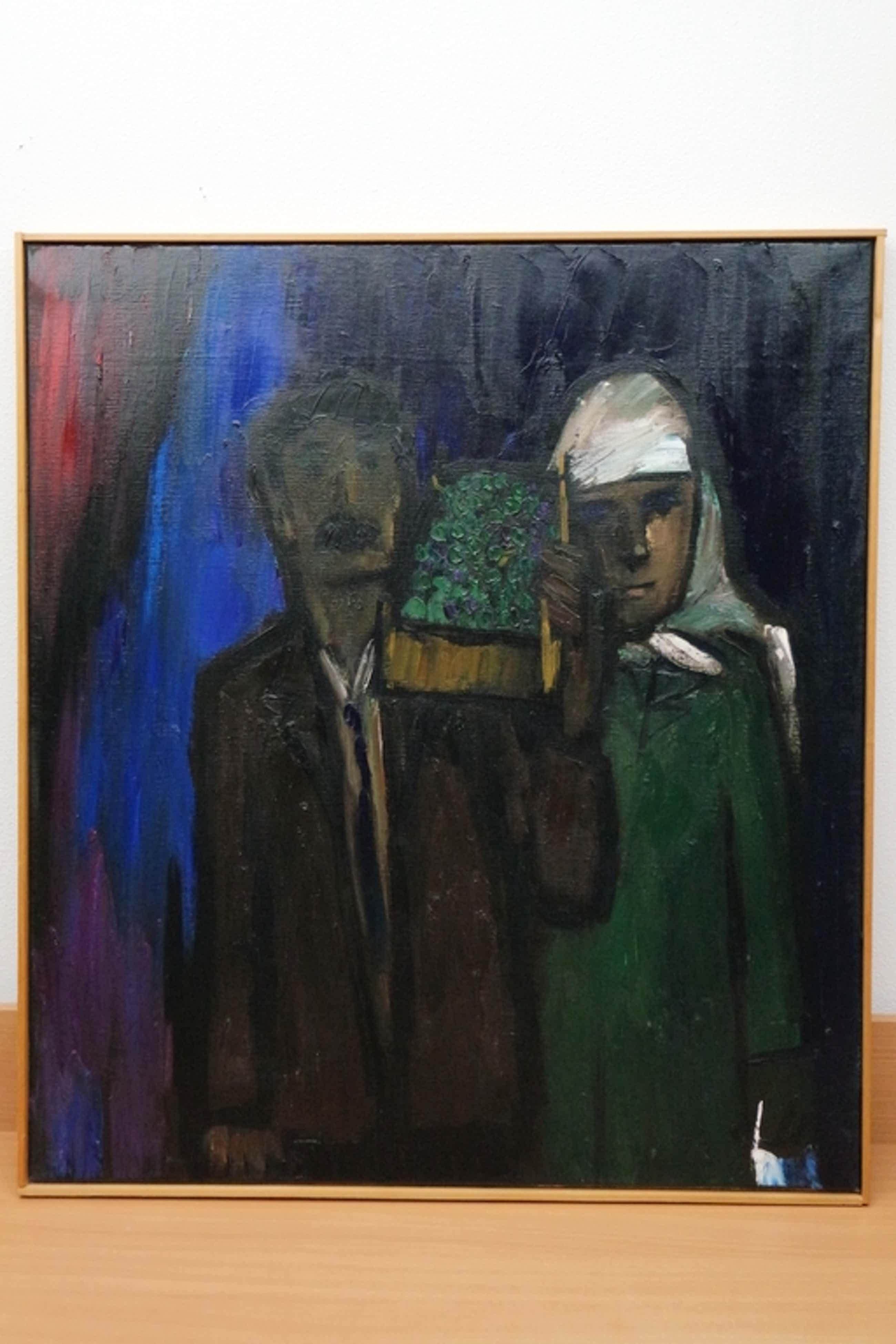 Theo van der Horst (1921-2003) - olieverf op doek - buitenlands echtpaar kopen? Bied vanaf 245!