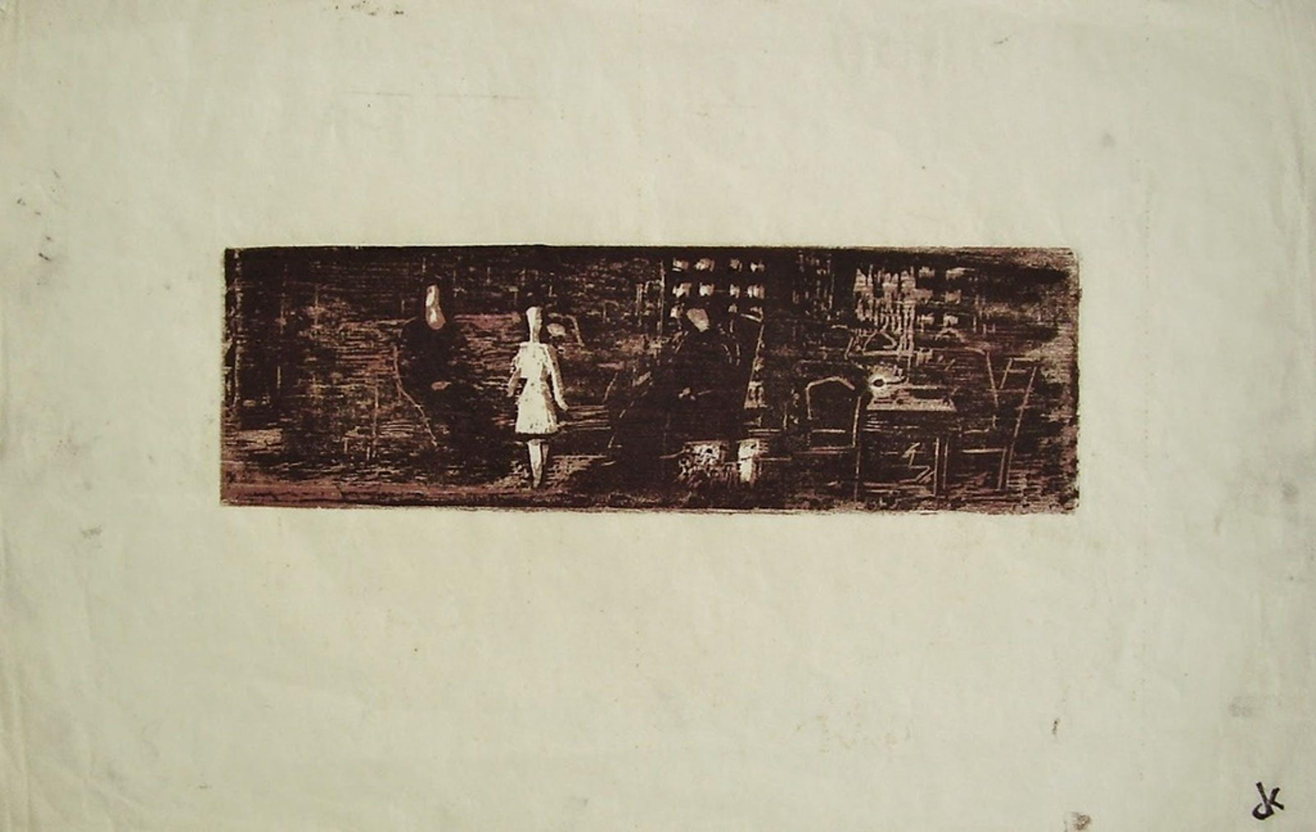 OTTO B. DE KAT houtsnede 1955 kopen? Bied vanaf 50!