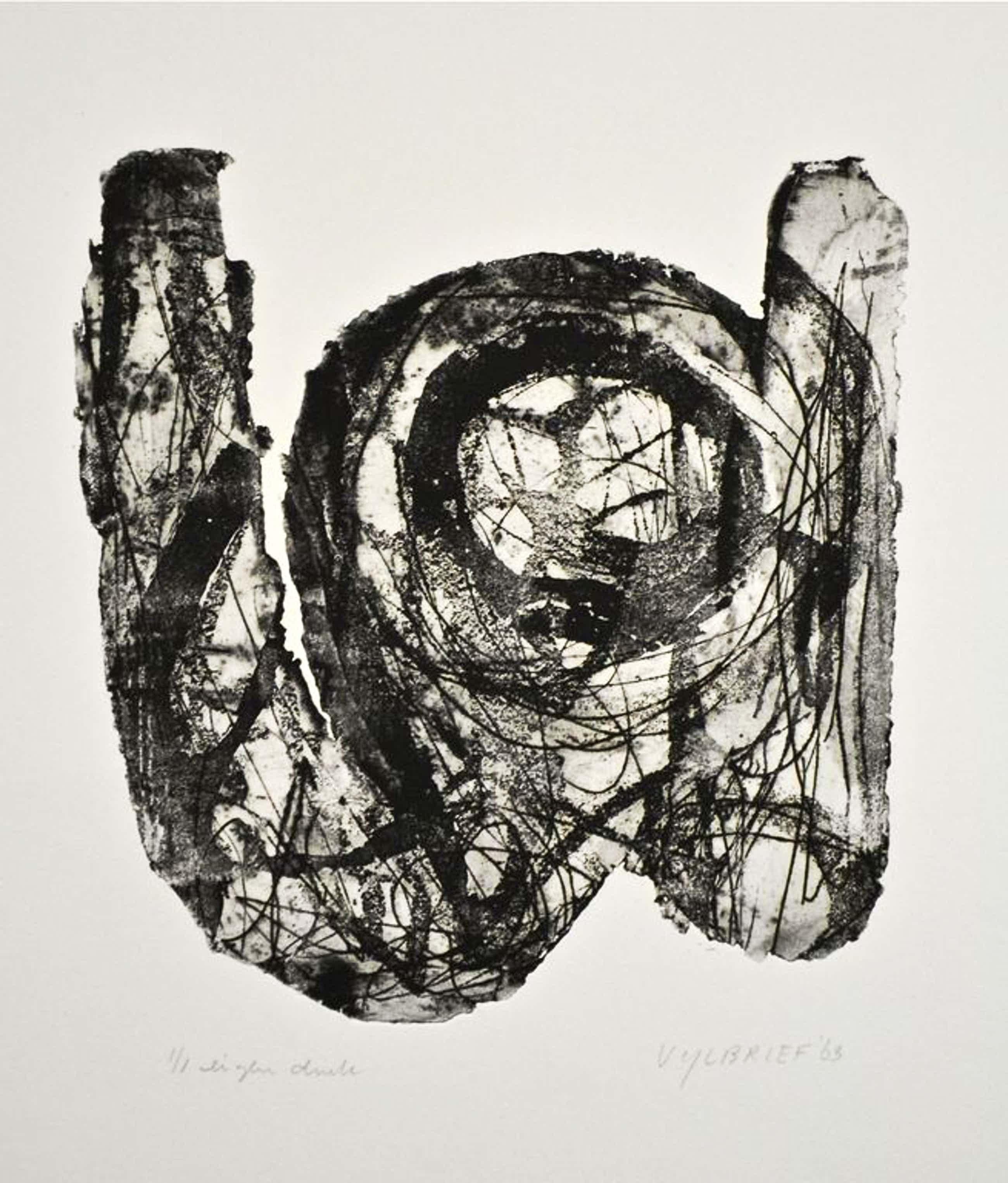 Ernst Vijlbrief. Ets/Aquatint 1963,  Oplage: 1 ex. Eigen druk. kopen? Bied vanaf 67!