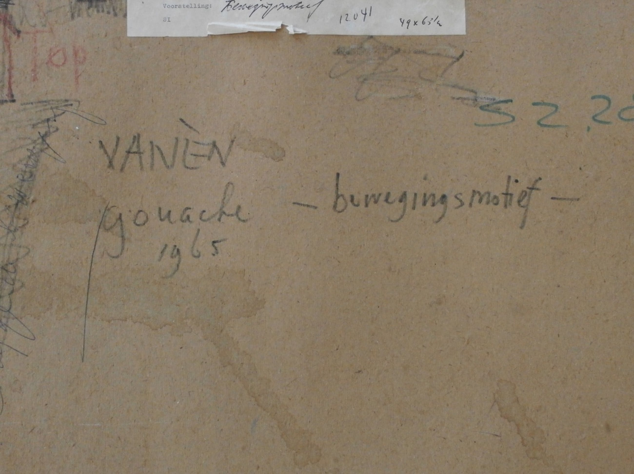 Frits Vanen A.J. van Nieuwenhuizen)- ingelijste gouache - 1965 kopen? Bied vanaf 95!