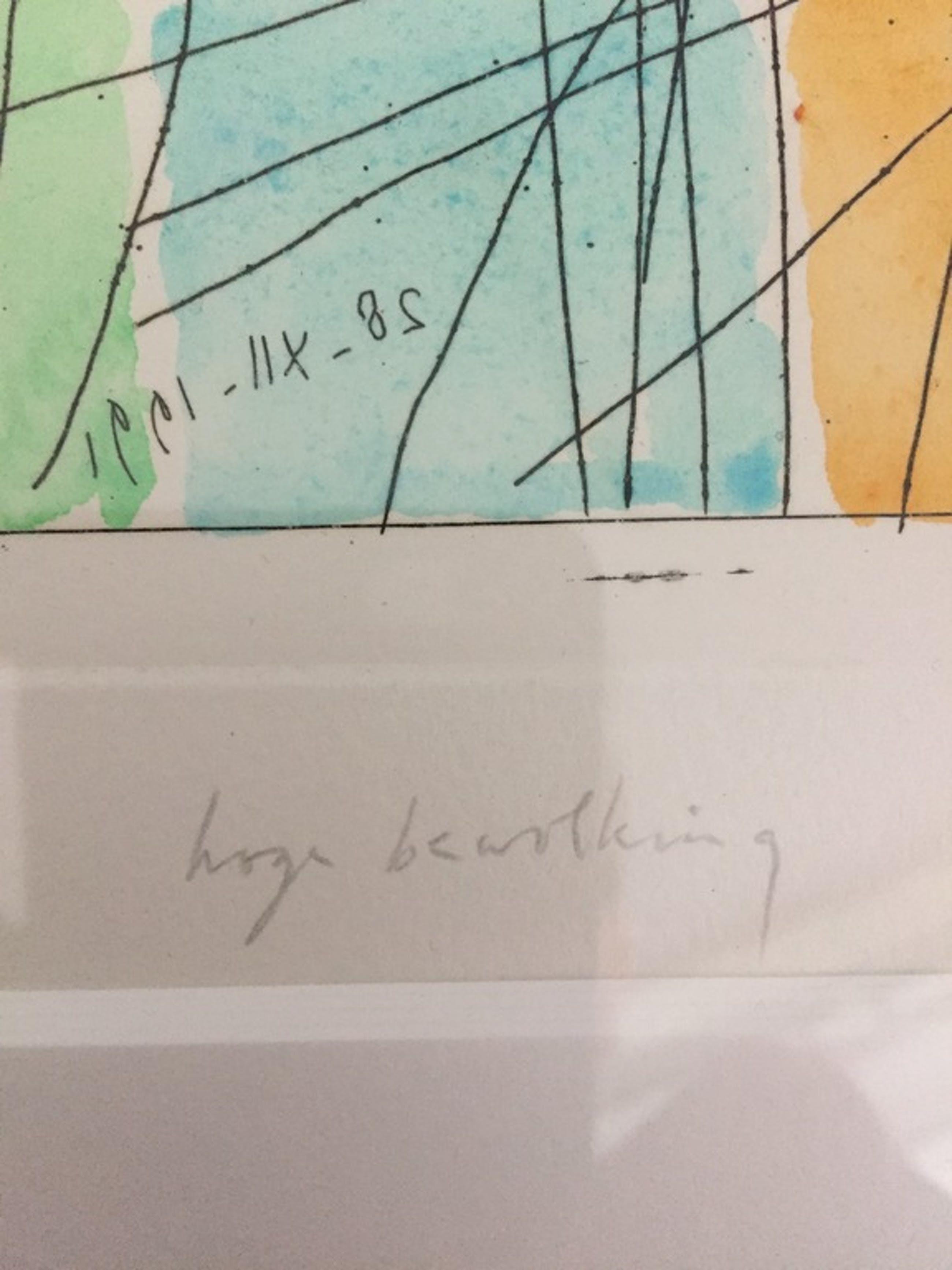 """Jaap Hillenius ( 1934 - 1999 ) """"Hoge Bewolking """" kopen? Bied vanaf 100!"""