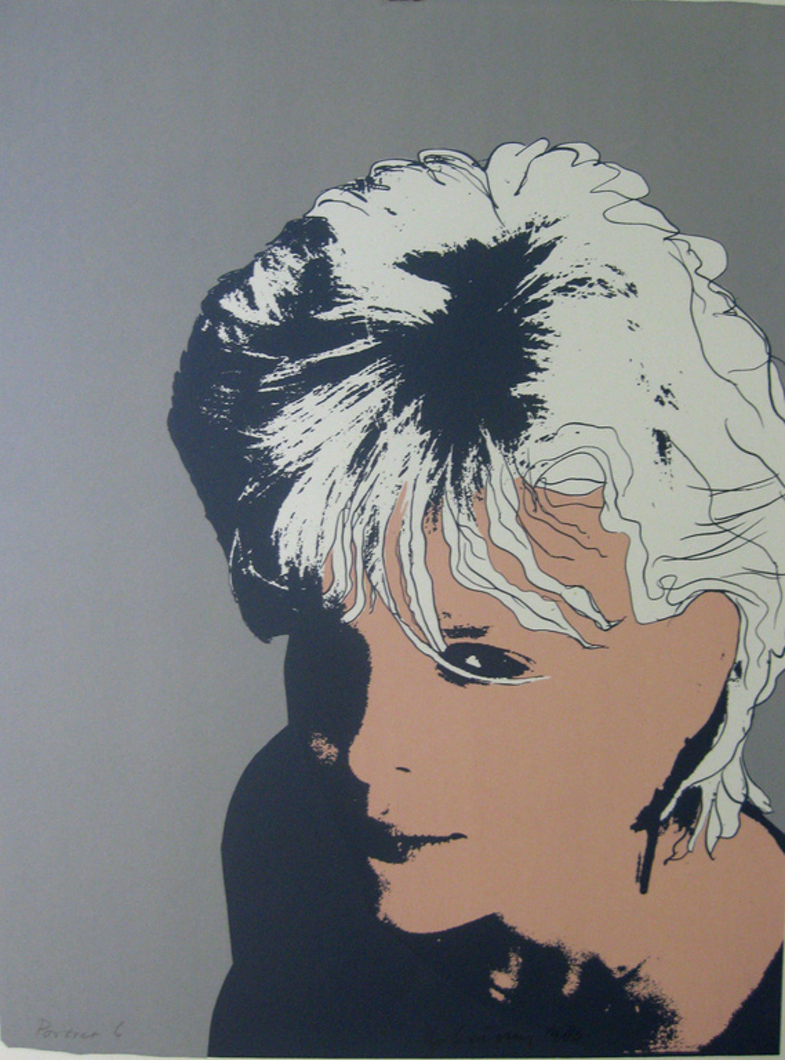 Henk Leiting, zeefdruk, Portret 6, 1983 kopen? Bied vanaf 1!