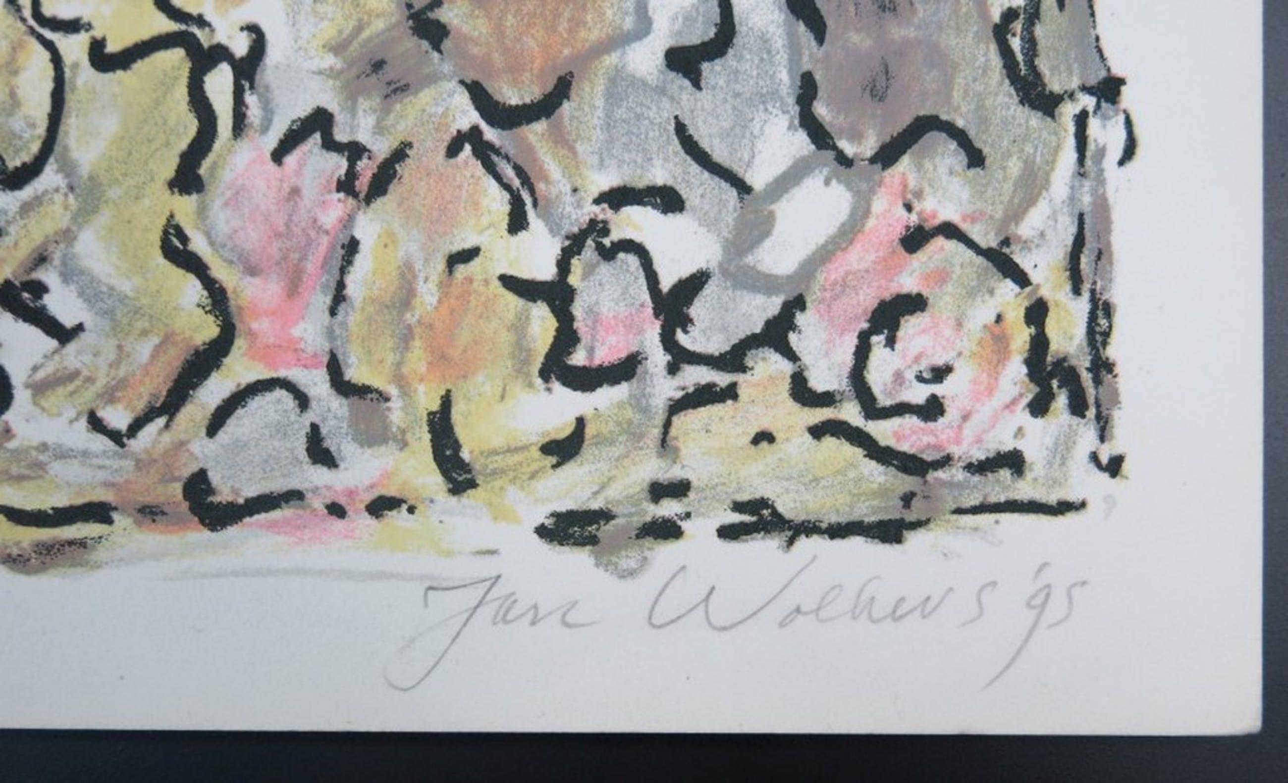 Jan Wolkers: Litho, Abstracte compositie kopen? Bied vanaf 150!