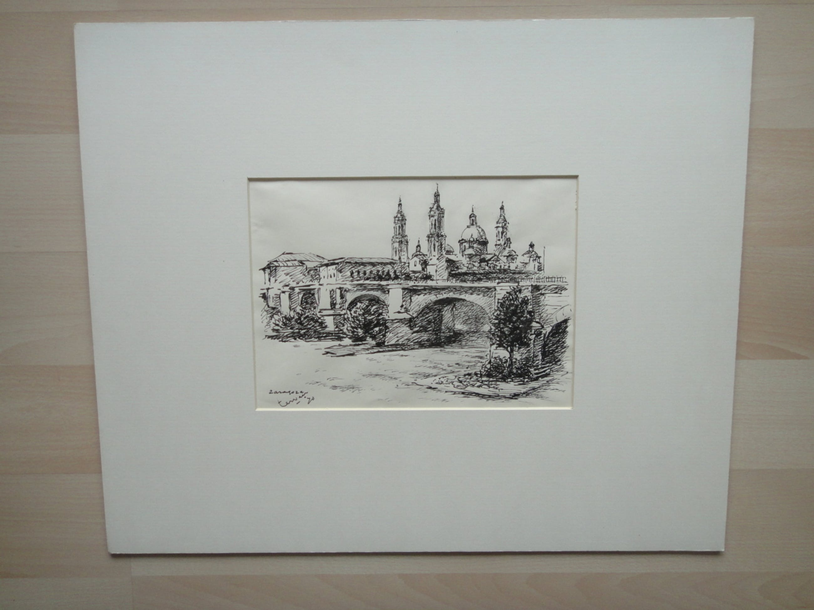 Johan Laurent ter Veer (1895-1970) , tekening, Zaragoza kopen? Bied vanaf 35!