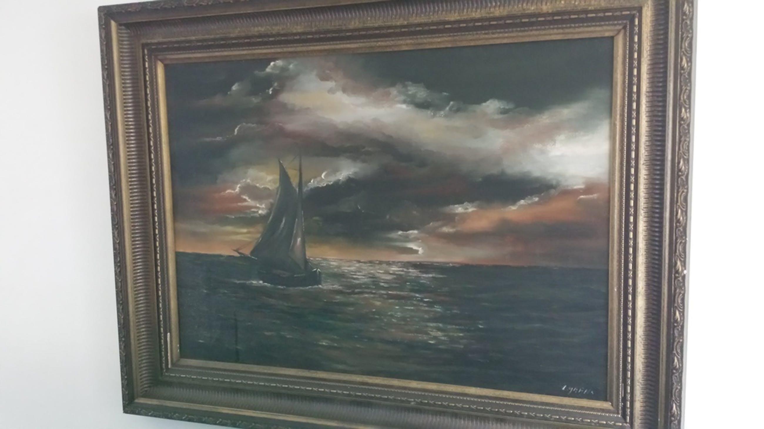 schilderij van schip op zee  kopen? Bied vanaf 15!
