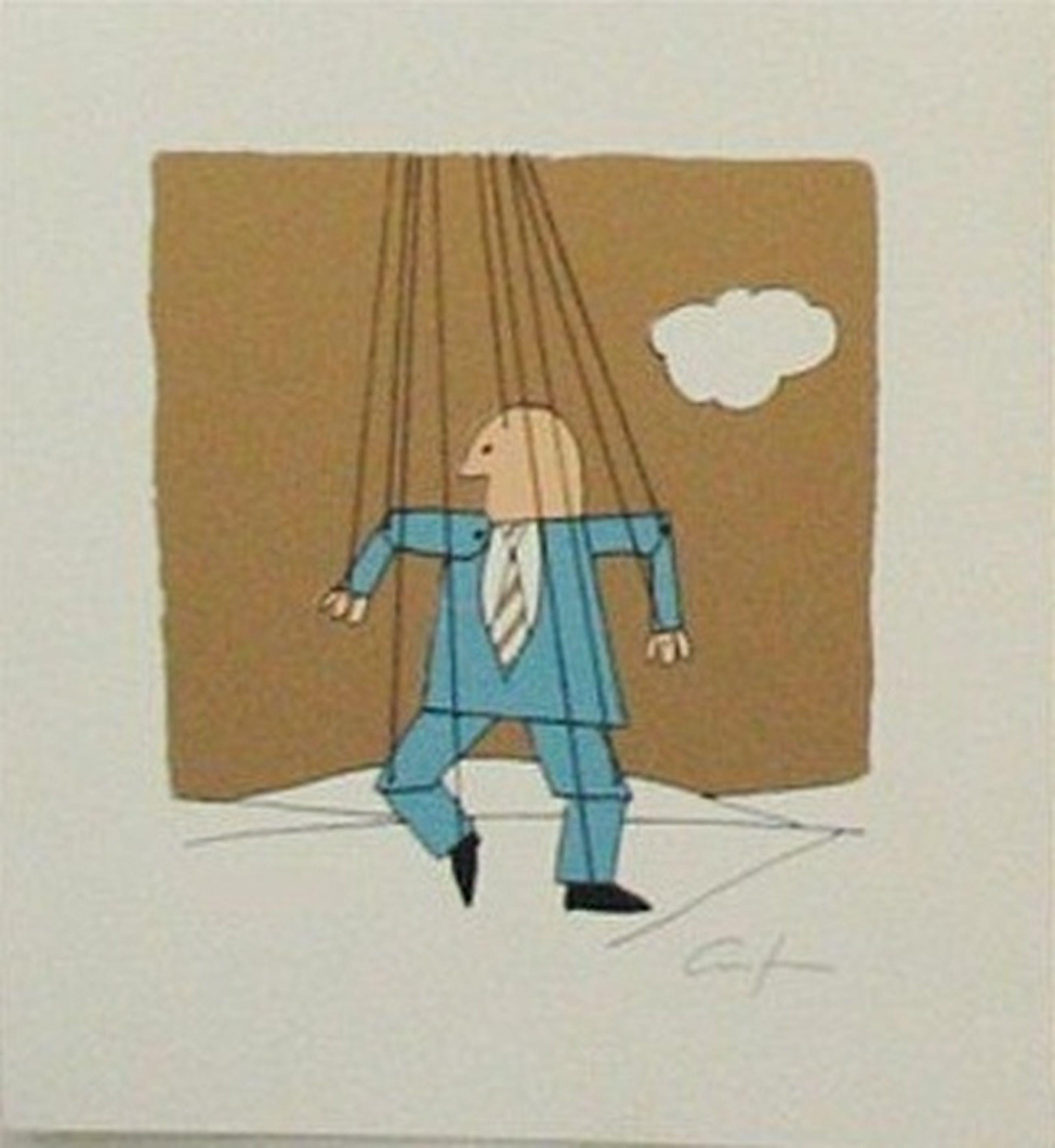 Harry Araten: Lithografie, Man at work II kopen? Bied vanaf 9!