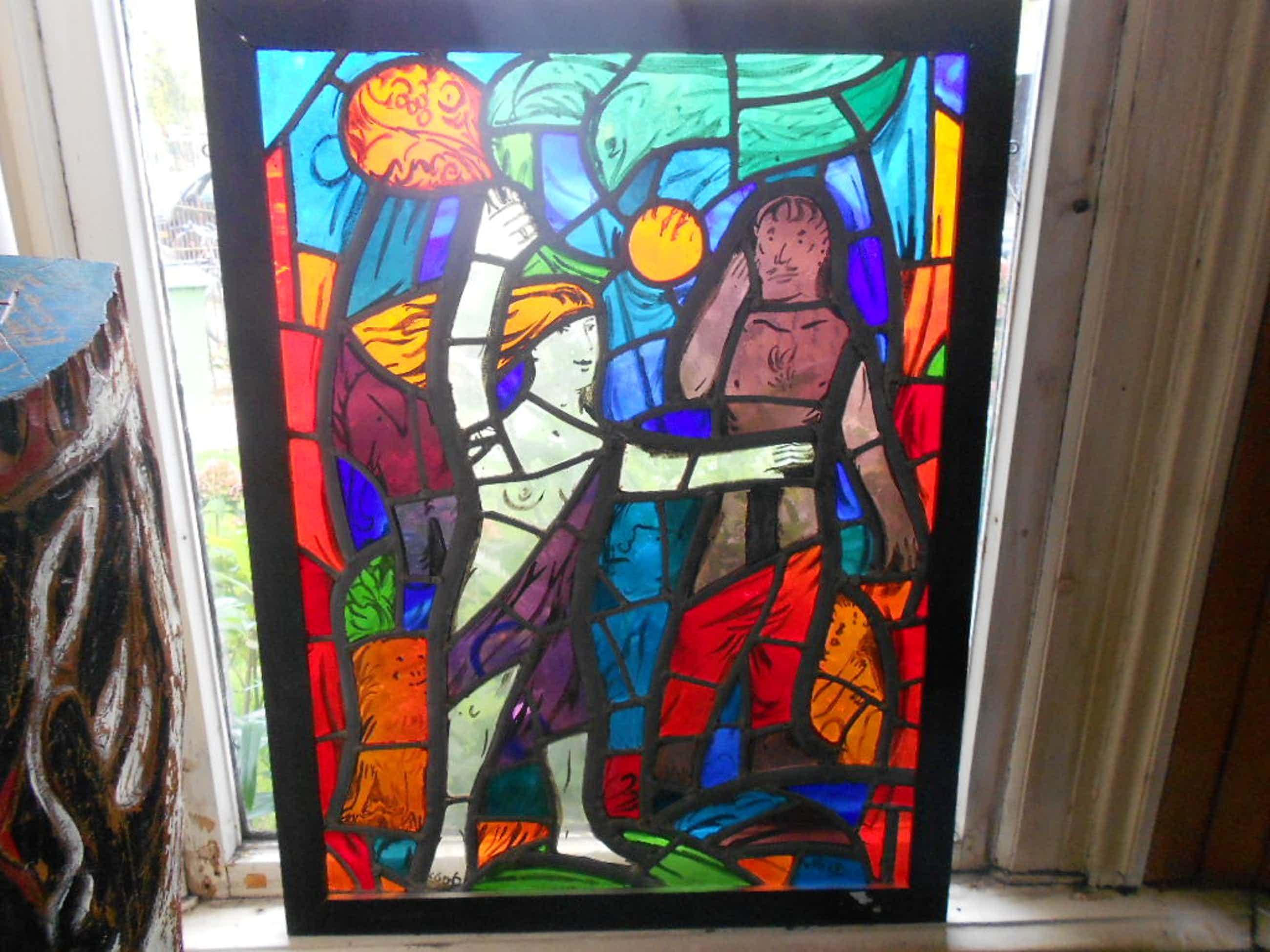 Theo van der horst gebrandschilderd glas in lood raam kopen? Bied vanaf 350!