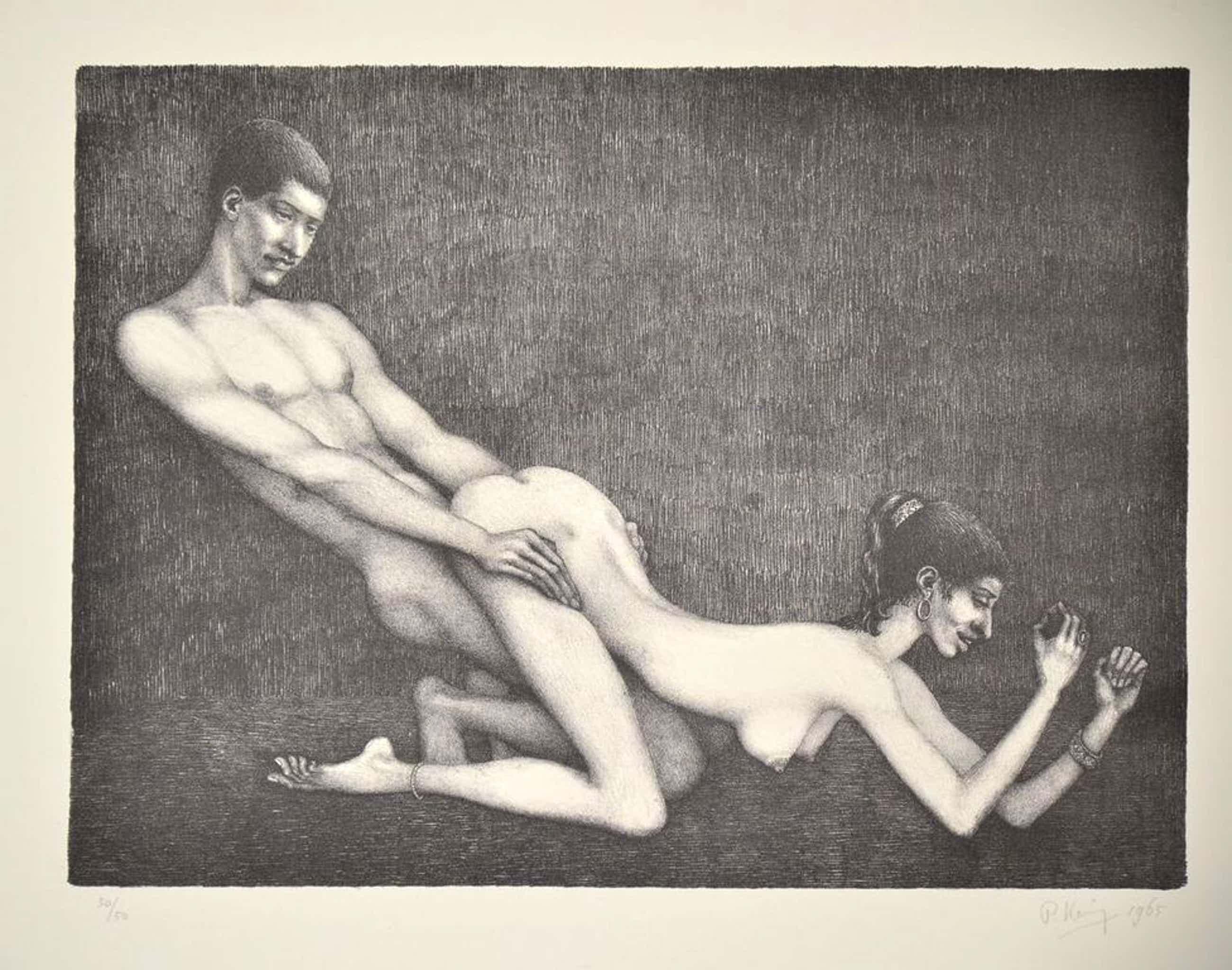 Paul Koning: Litho. Erotische voorstelling kopen? Bied vanaf 40!