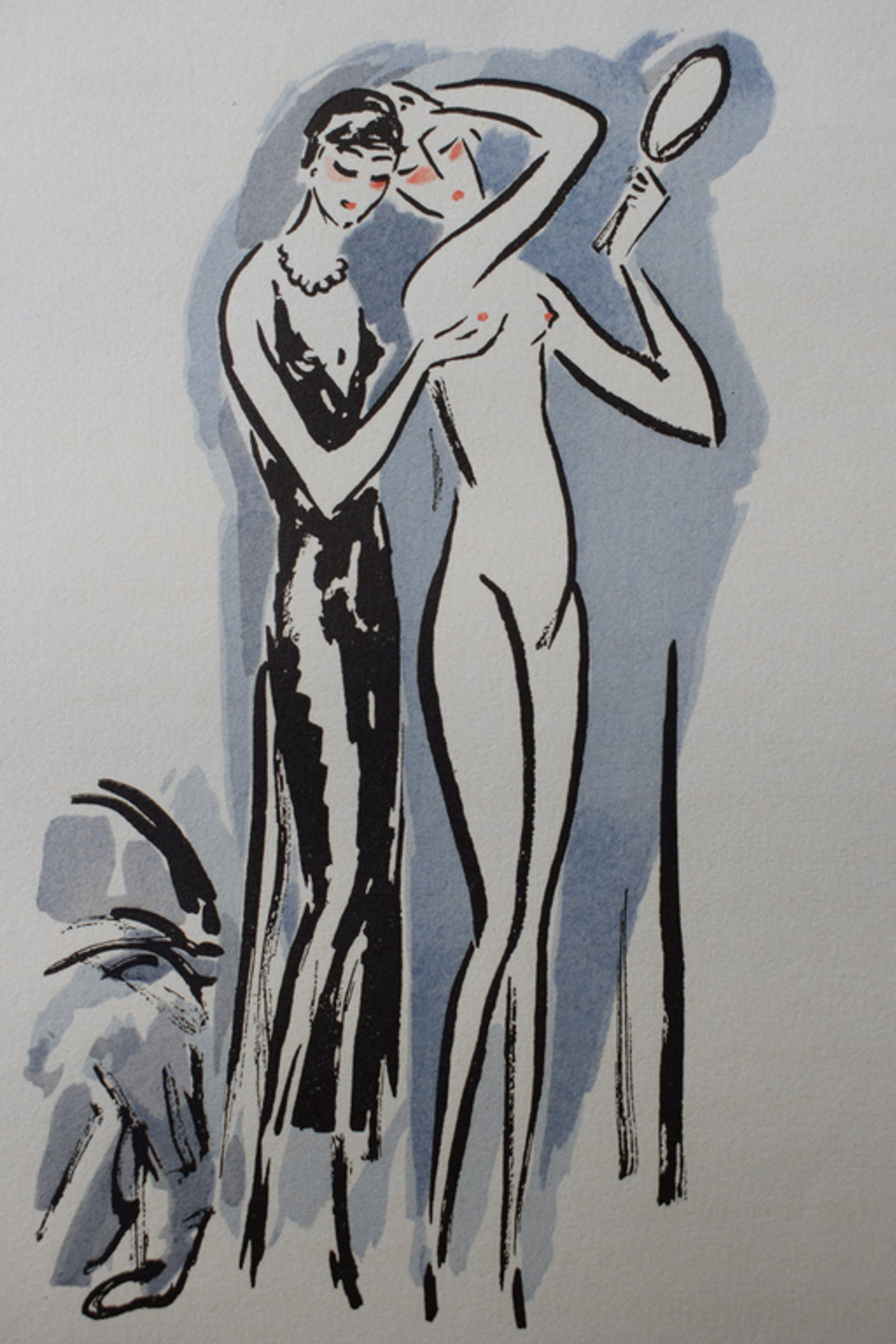 Kees van Dongen - Pochoir La Garconne  - Twee Vrouwen kopen? Bied vanaf 250!