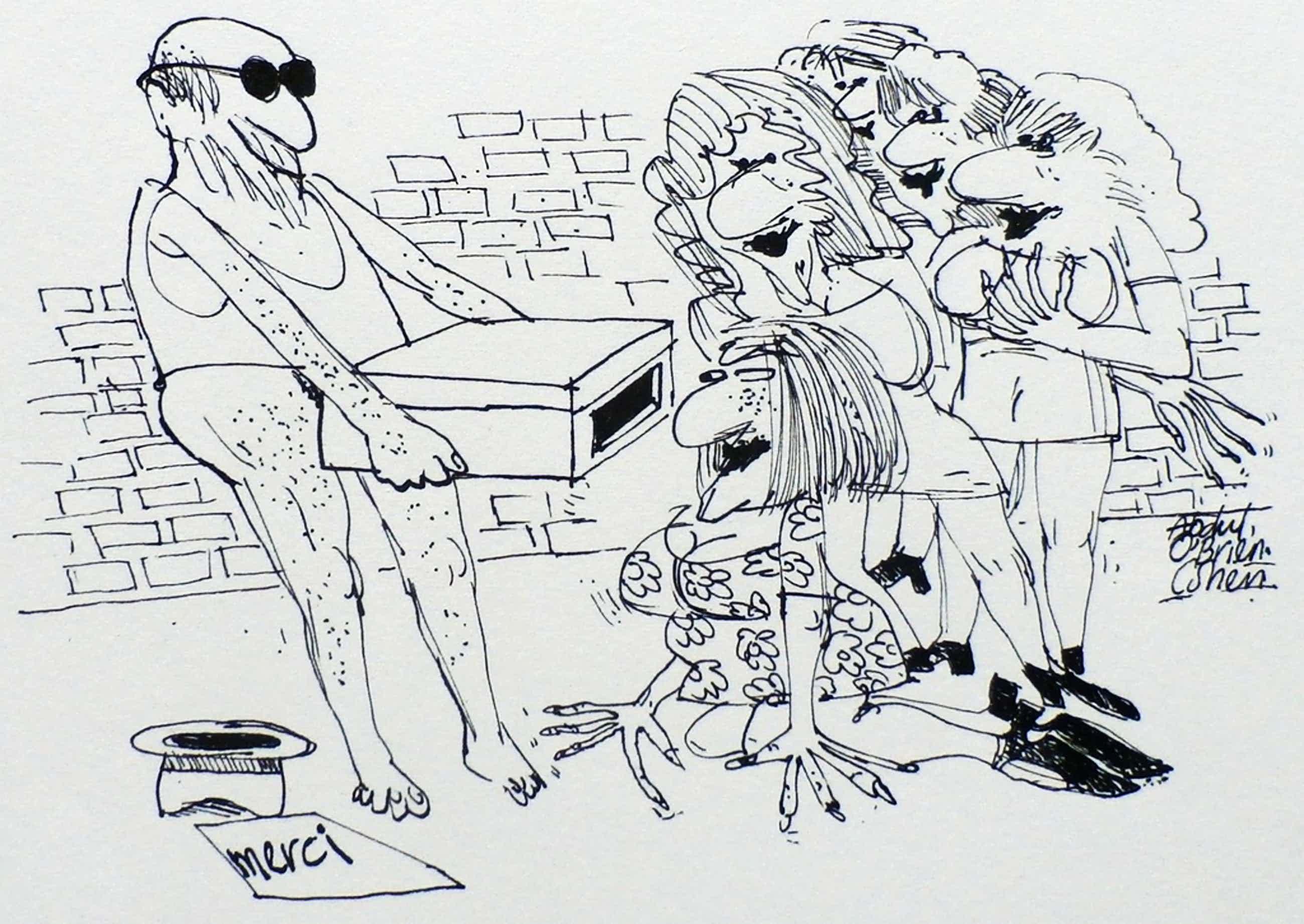 Kees Spermon - pentekening: erotische voorstelling kopen? Bied vanaf 49!