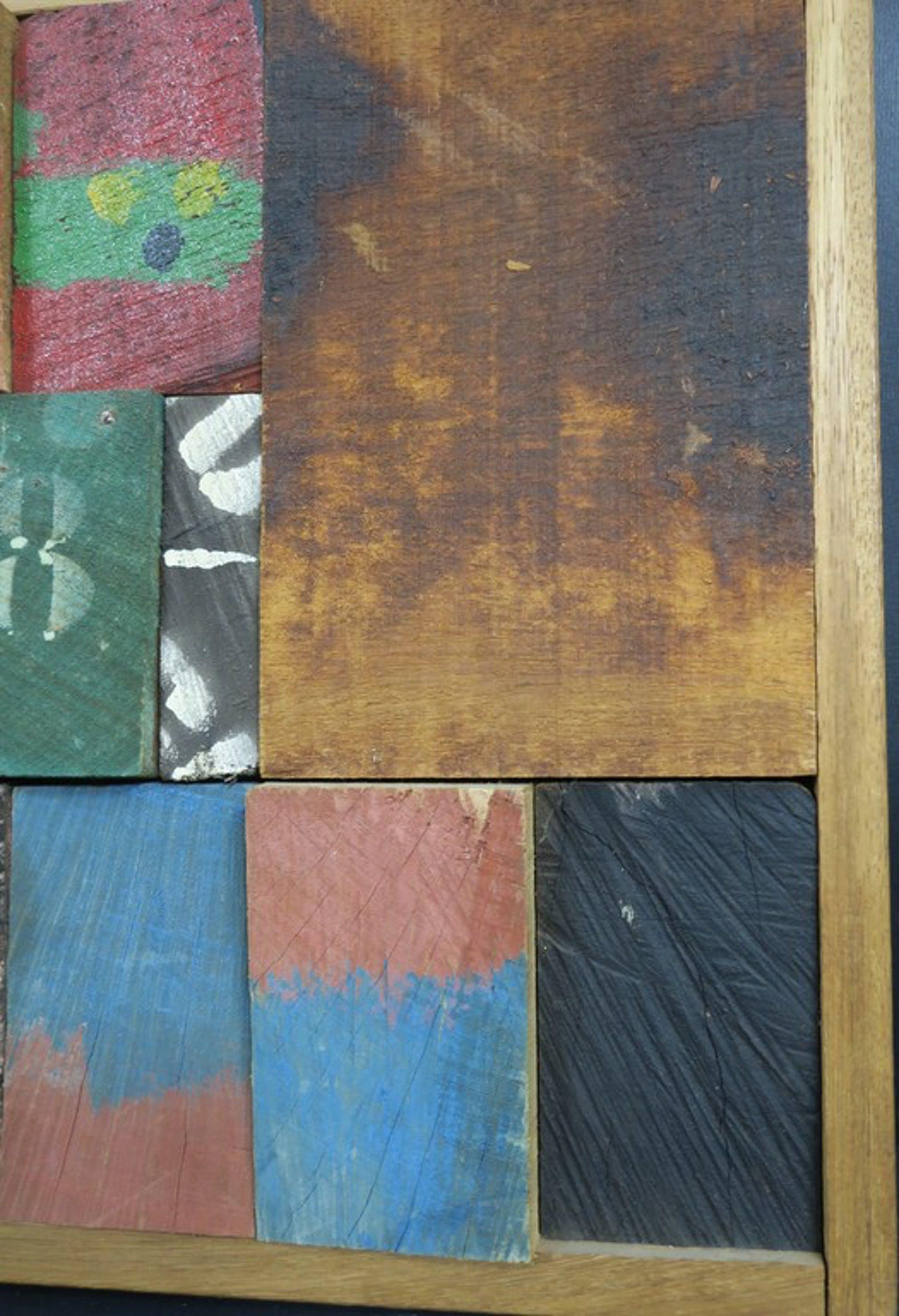Christiaan Paul Damste: Collage van beschilderd hout, Z.T. kopen? Bied vanaf 550!