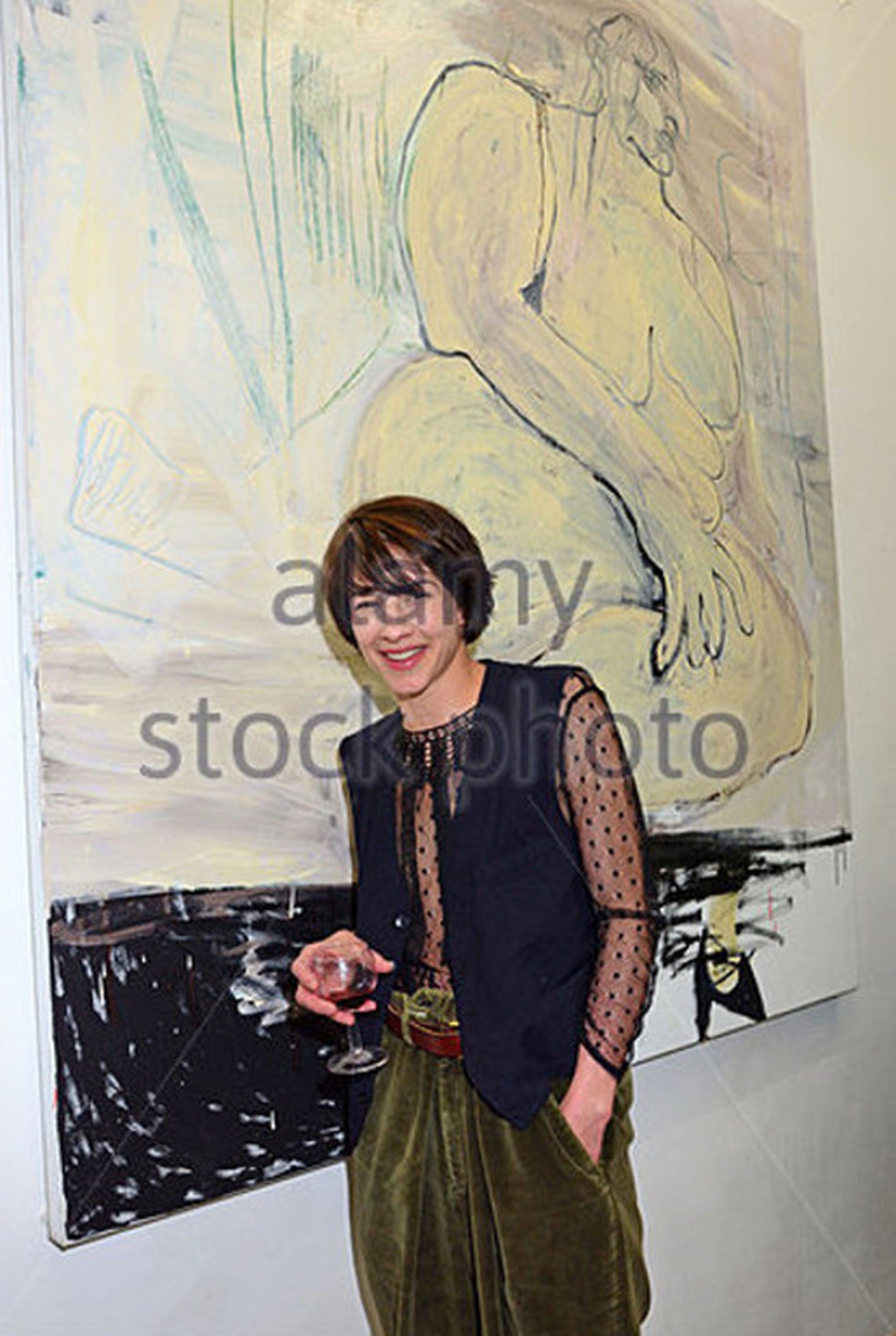 Maria Gimenez.-Dame im Spiegel-  Giclee op katoenpapier. Gesign.2016. kopen? Bied vanaf 29!