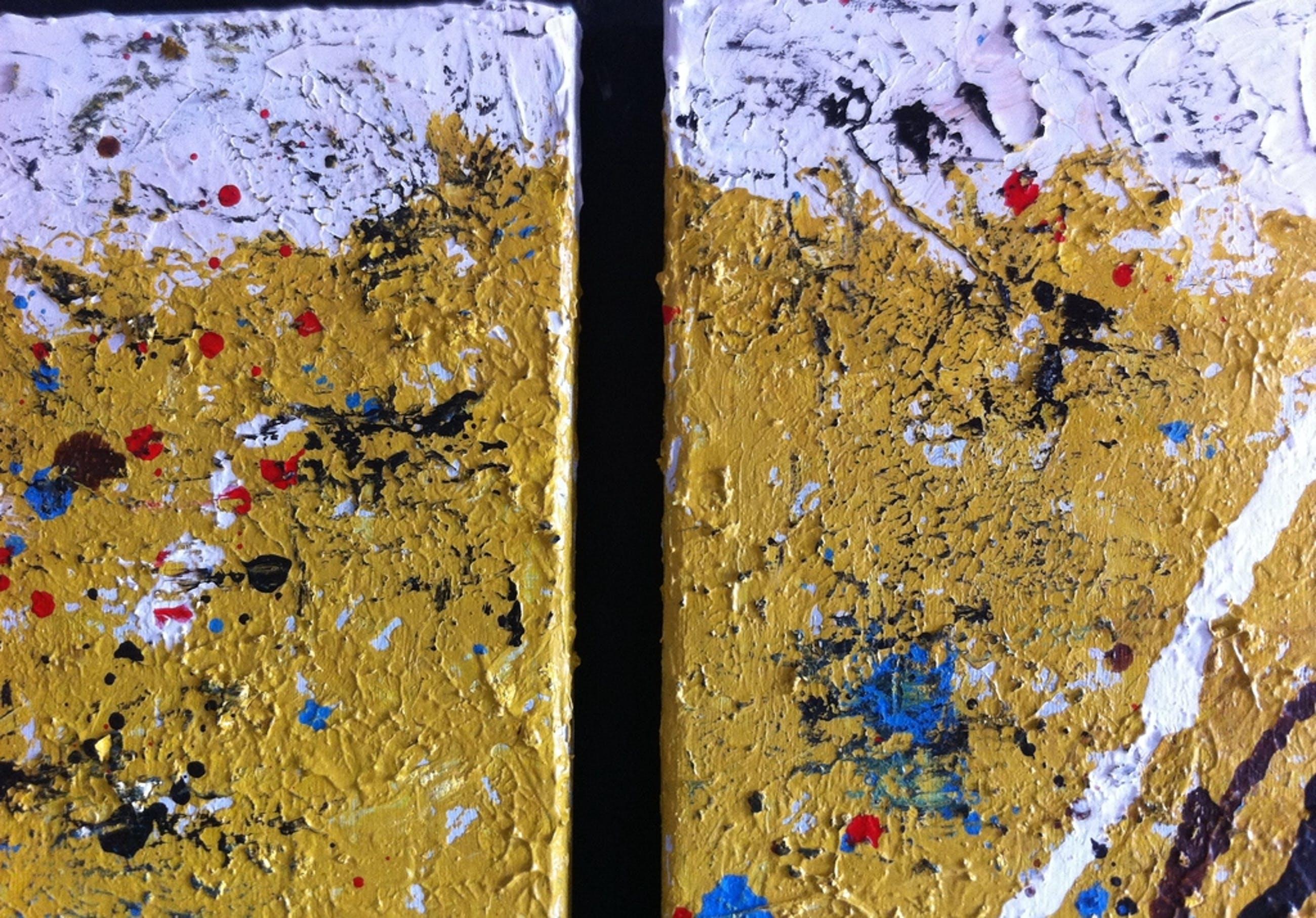"""What goes around comes around #03."" John Foppen -Olie/Acryl.- Canvas - Gesign. kopen? Bied vanaf 149!"