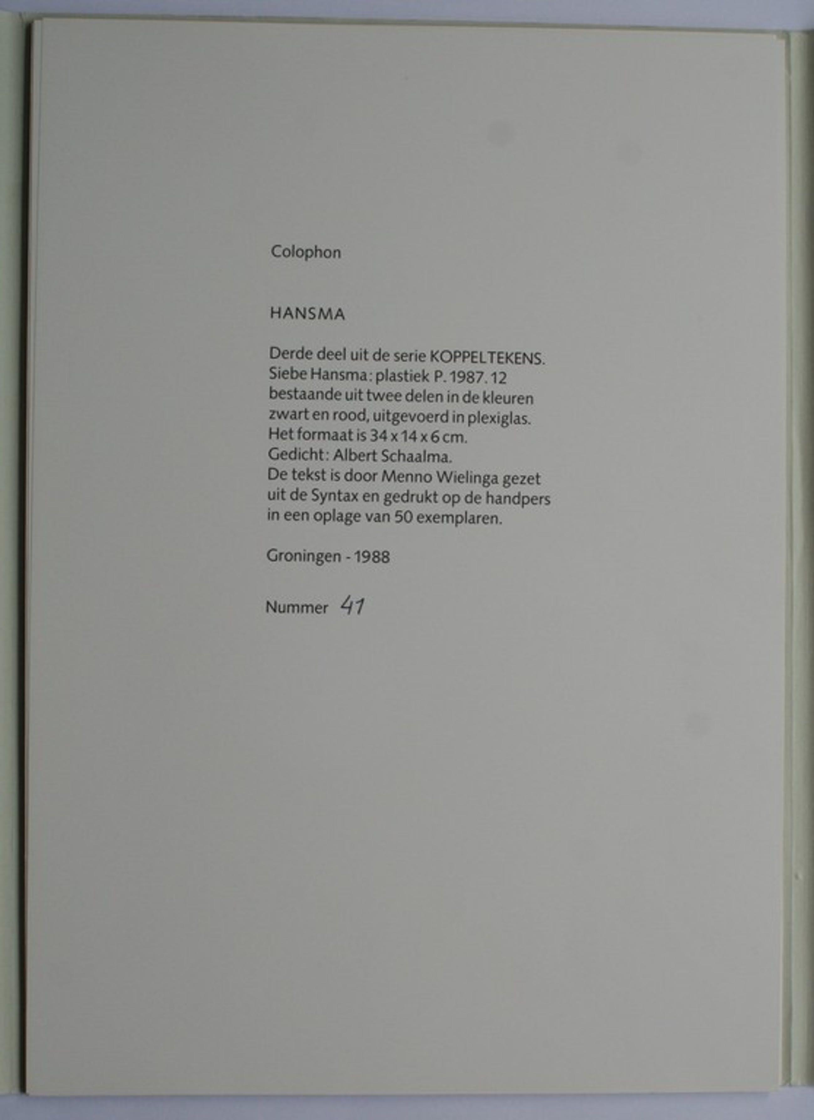 Siebe Hansma 1949 Albert Schaalma Plastiek P198712