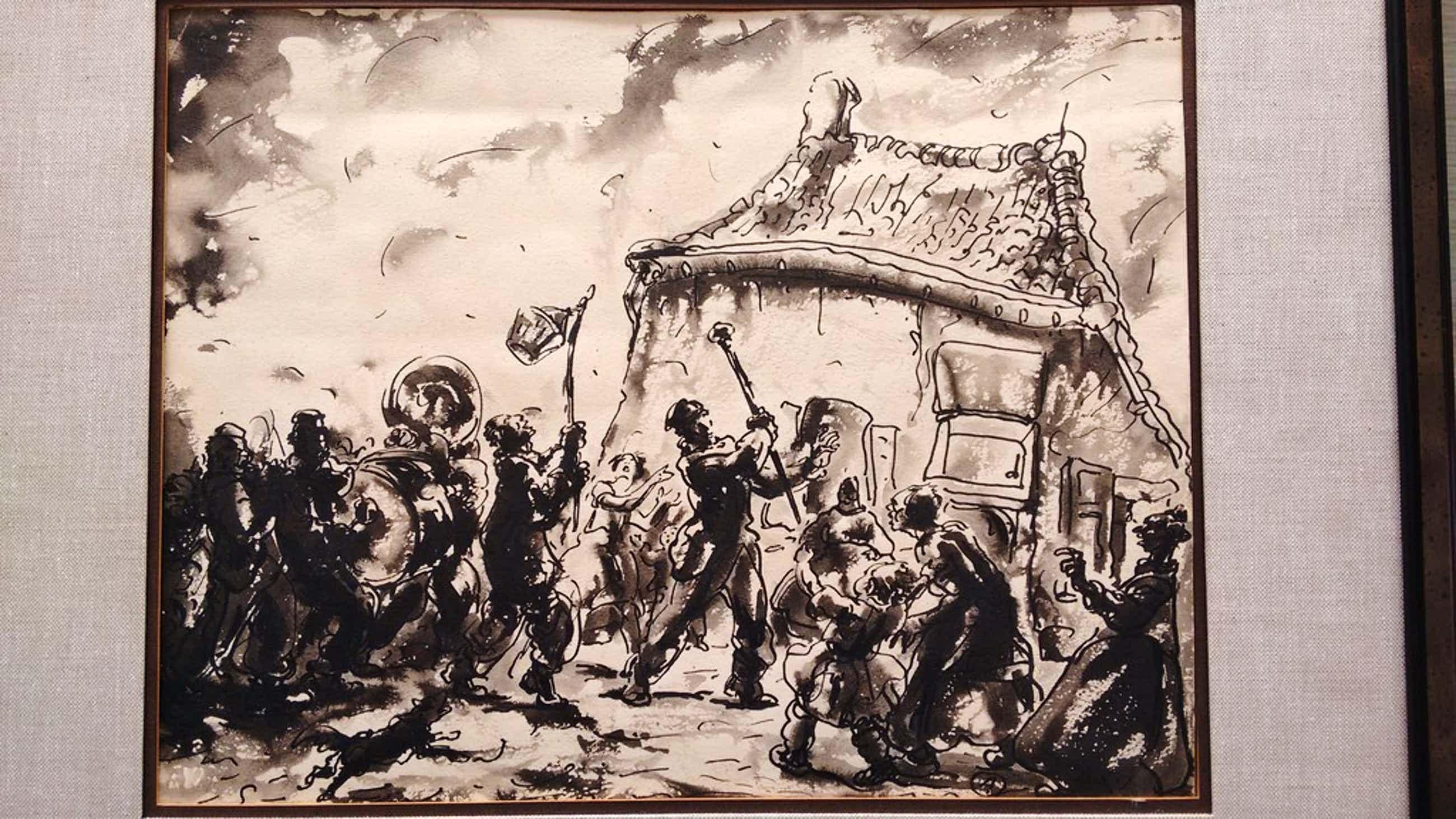 Alfred Ost Oost-Indische tekening, gesigneerd, ingelijst kopen? Bied vanaf 330!