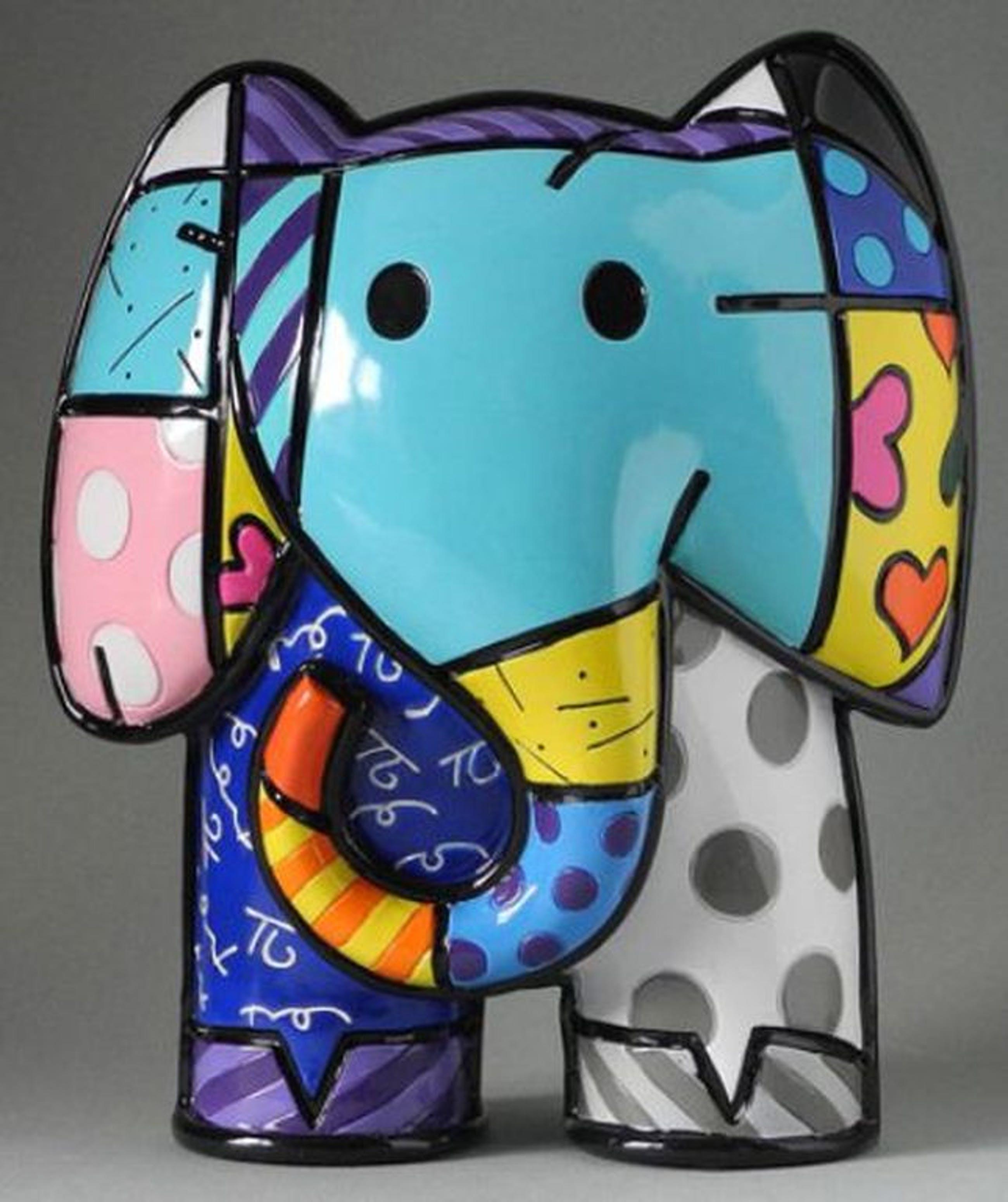 ROMERO BRITTO, gelimiteerd beeld: Indian Elephant XL kopen? Bied vanaf 89!