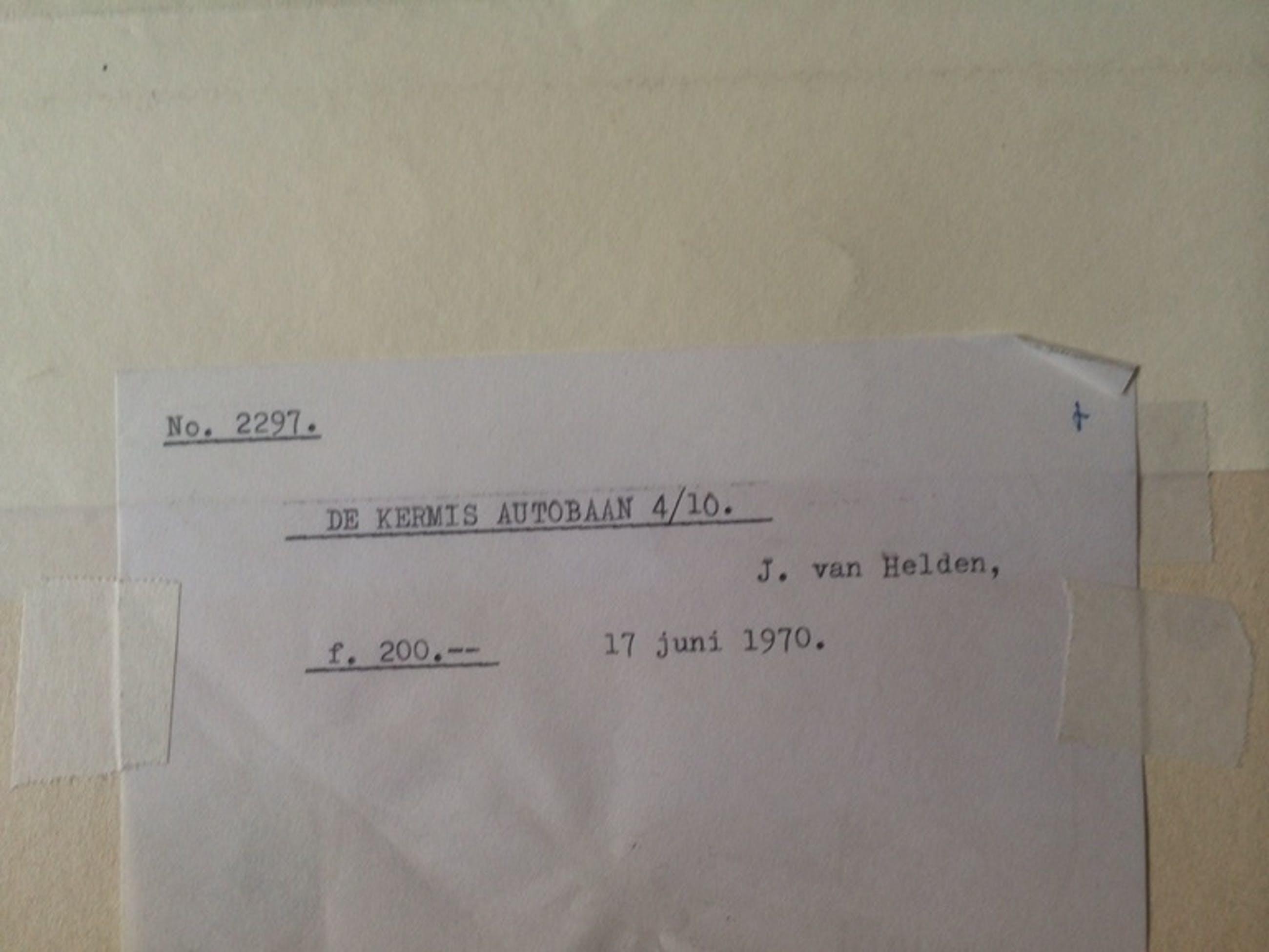 De Kermis Autobaan 4:10, 17-juni 1970 kopen? Bied vanaf 50!