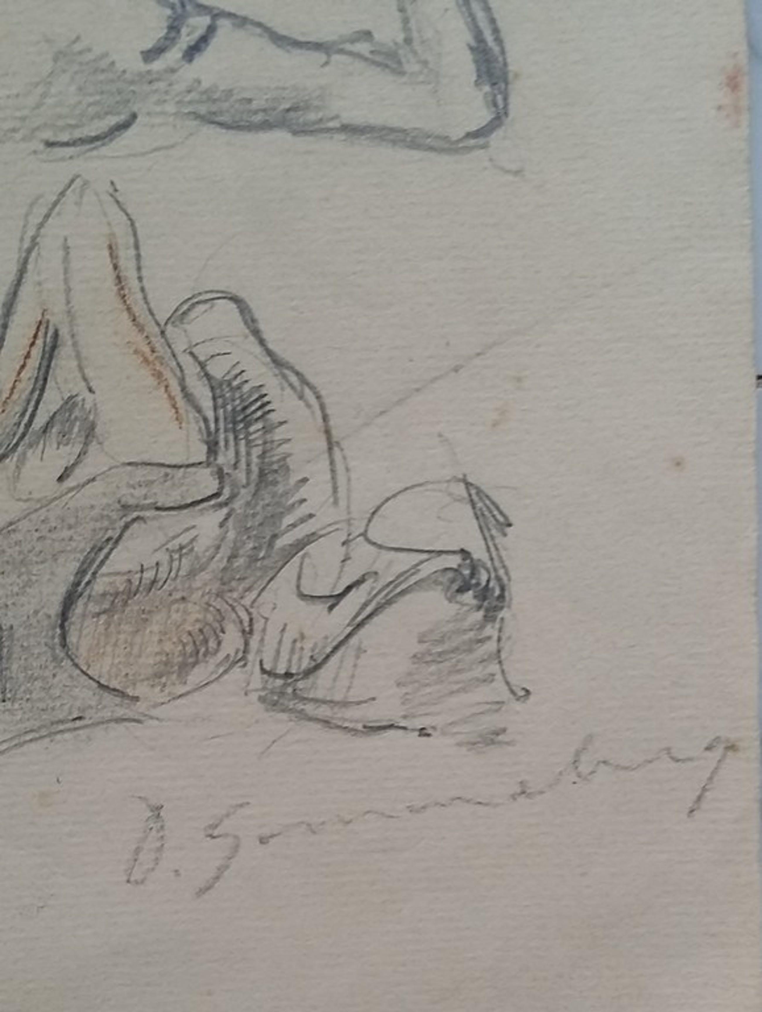 Dirk Smorenberg  - 3x zeer vroege tekeningen kopen? Bied vanaf 25!