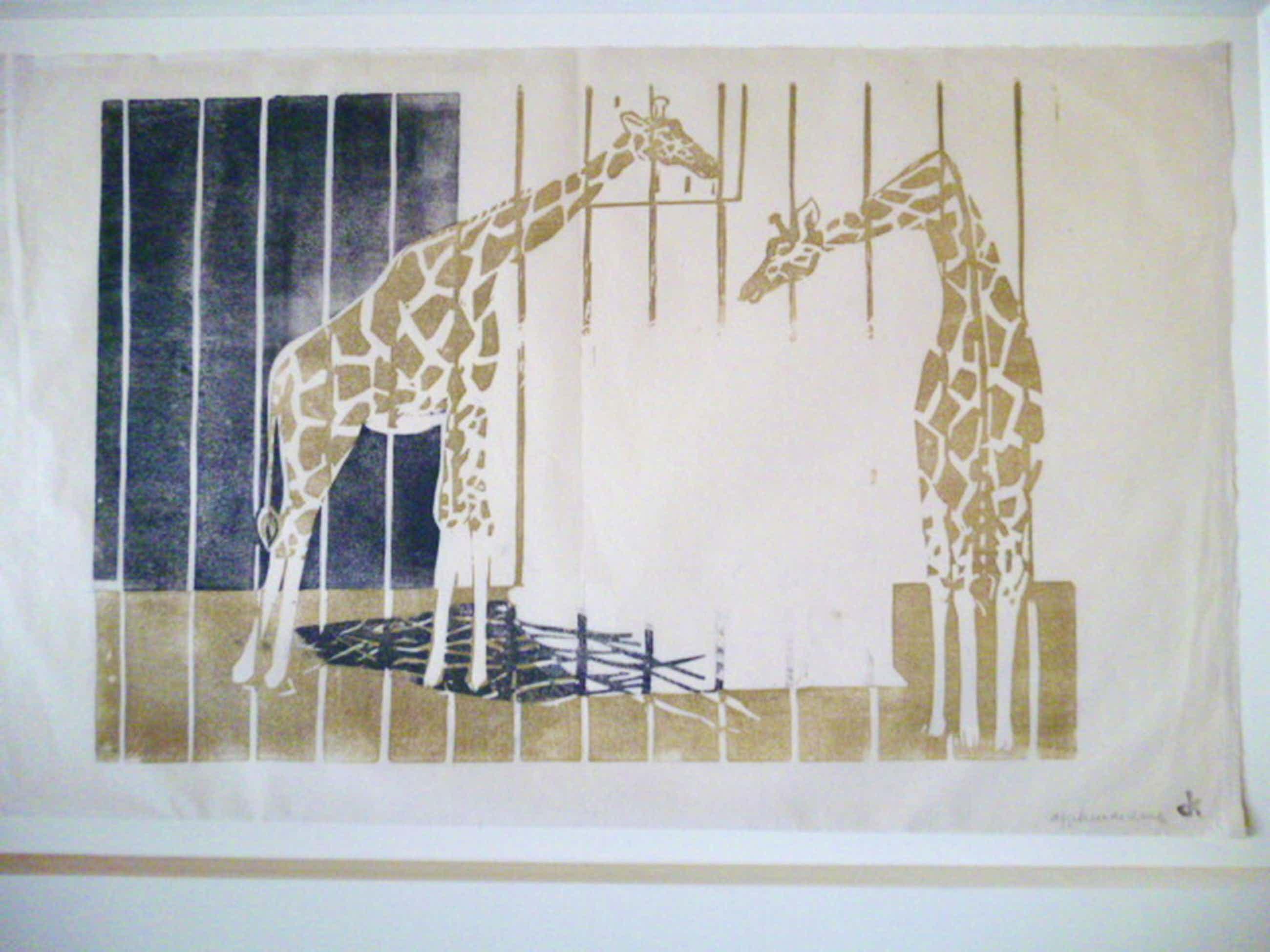 Otto B.de Kat-Linosnede-Twee giraffen kopen? Bied vanaf 60!
