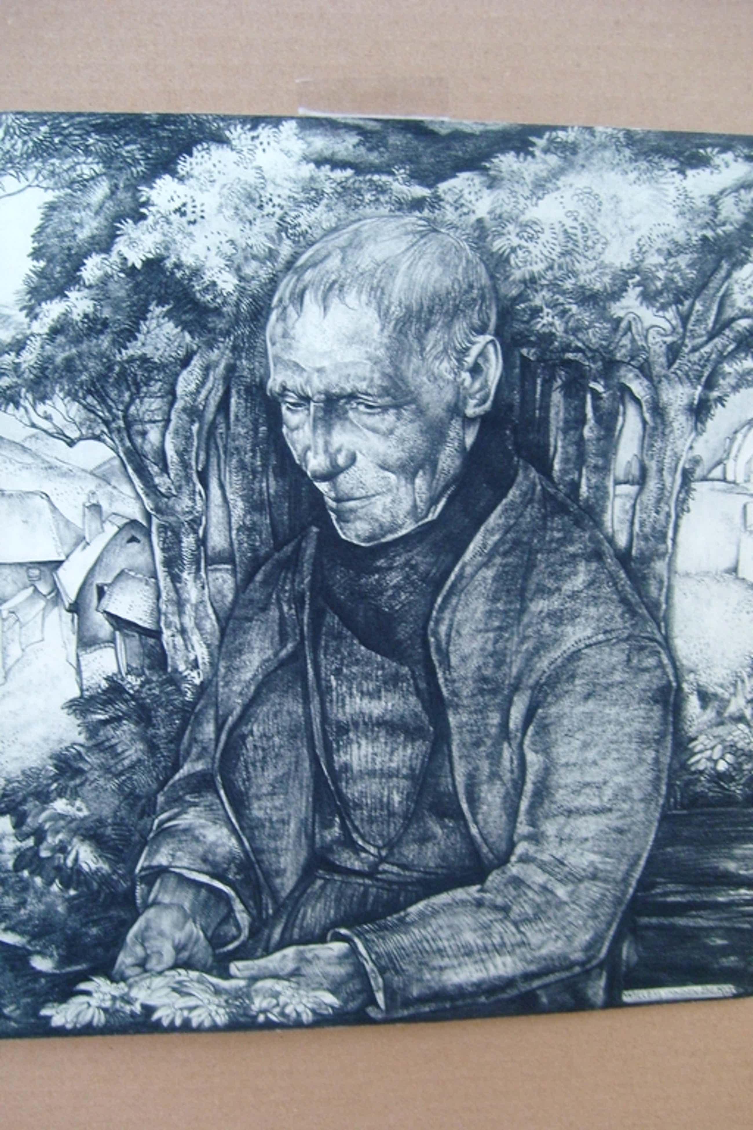 Willem van den Berg, litho uit 1937, man op bank, gesigneerd kopen? Bied vanaf 50!