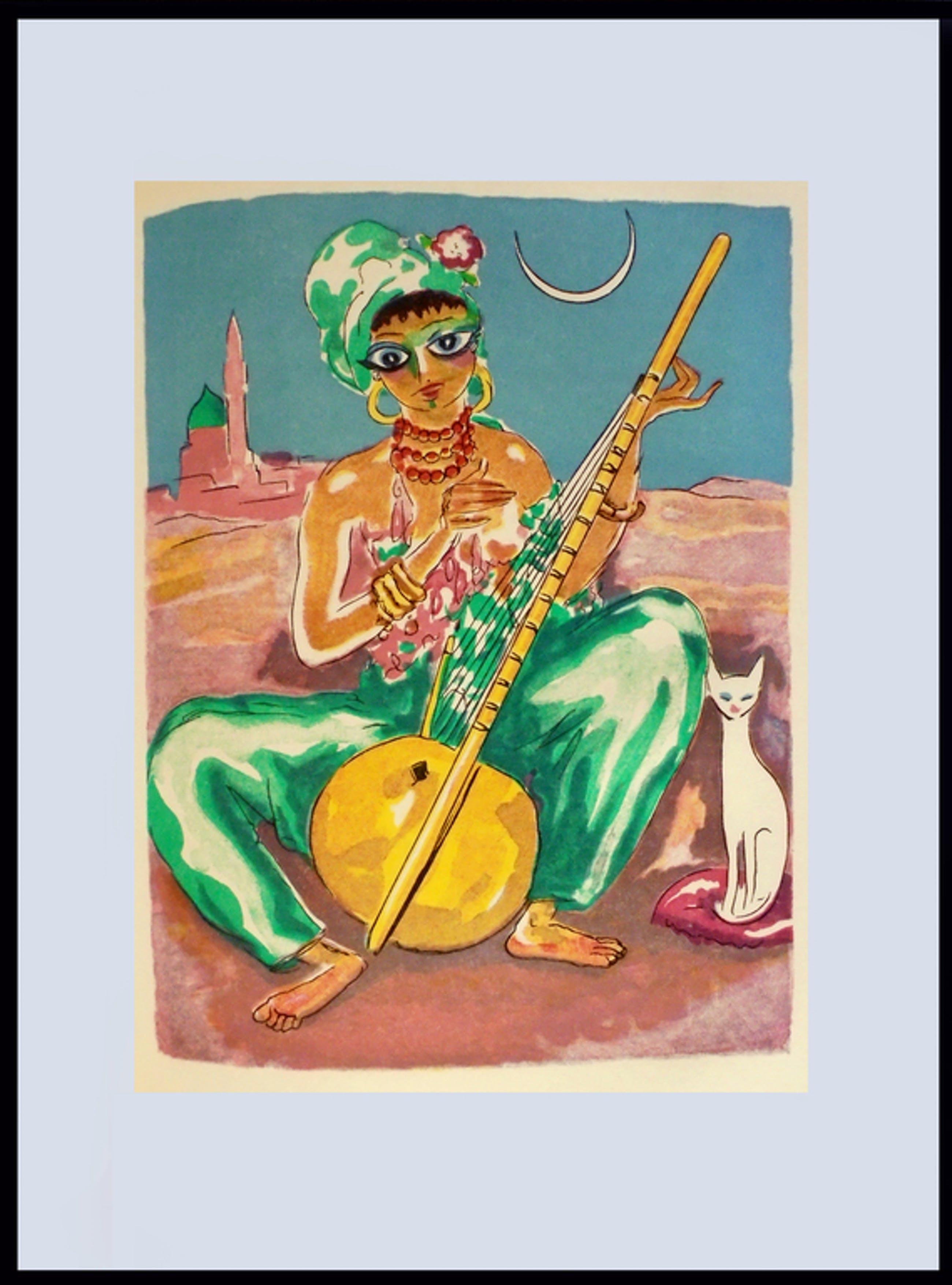 Kees van Dongen - Houtgravure 1955 - Zobèida chante pour Ghanem kopen? Bied vanaf 25!