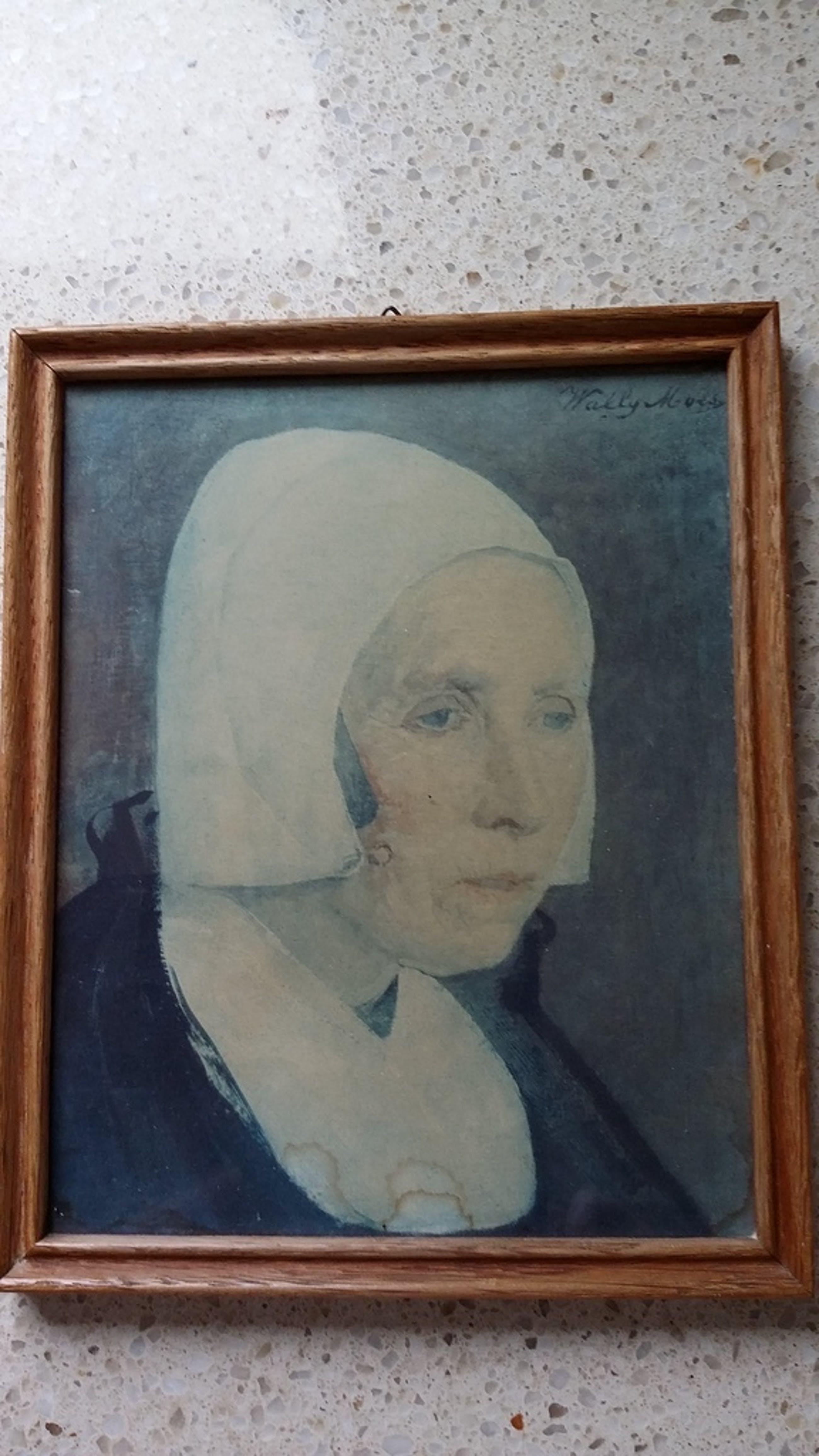 Wally Moes Aquarel Portret dame in klederdracht kopen? Bied vanaf 500!