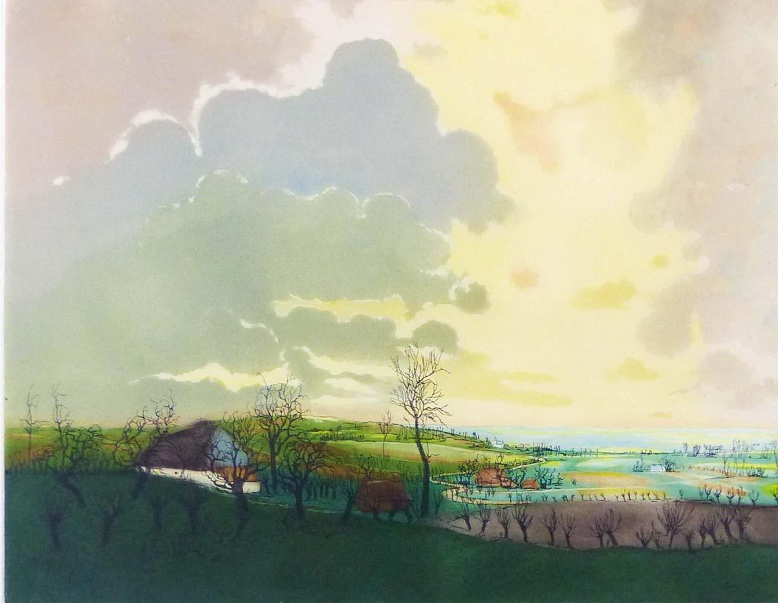 Armand Apol - Kleurenets: landschap in de lente kopen? Bied vanaf 55!