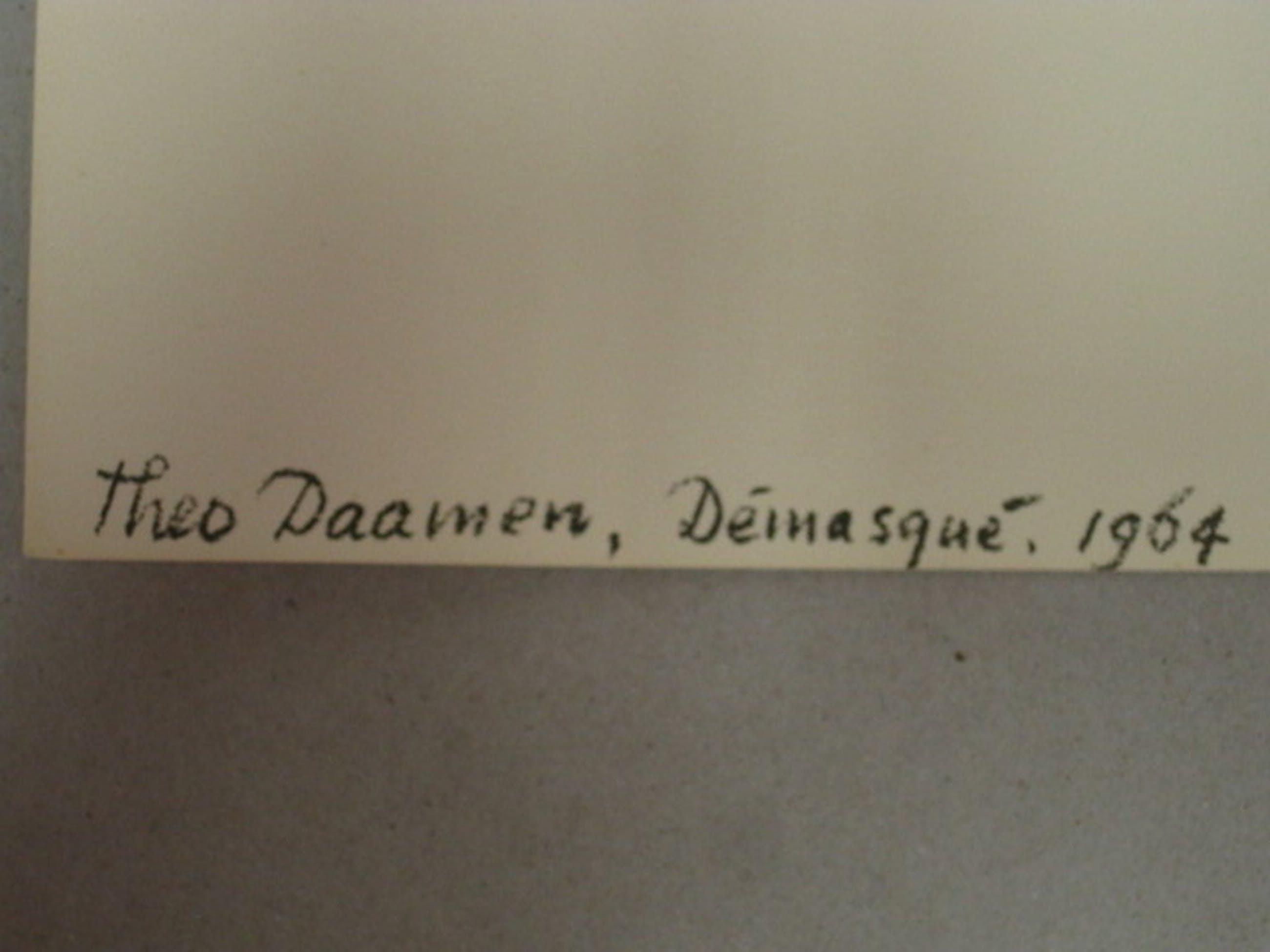 """Theo Daamen (1939-) litho """"Demasque"""" 1964 kopen? Bied vanaf 1!"""