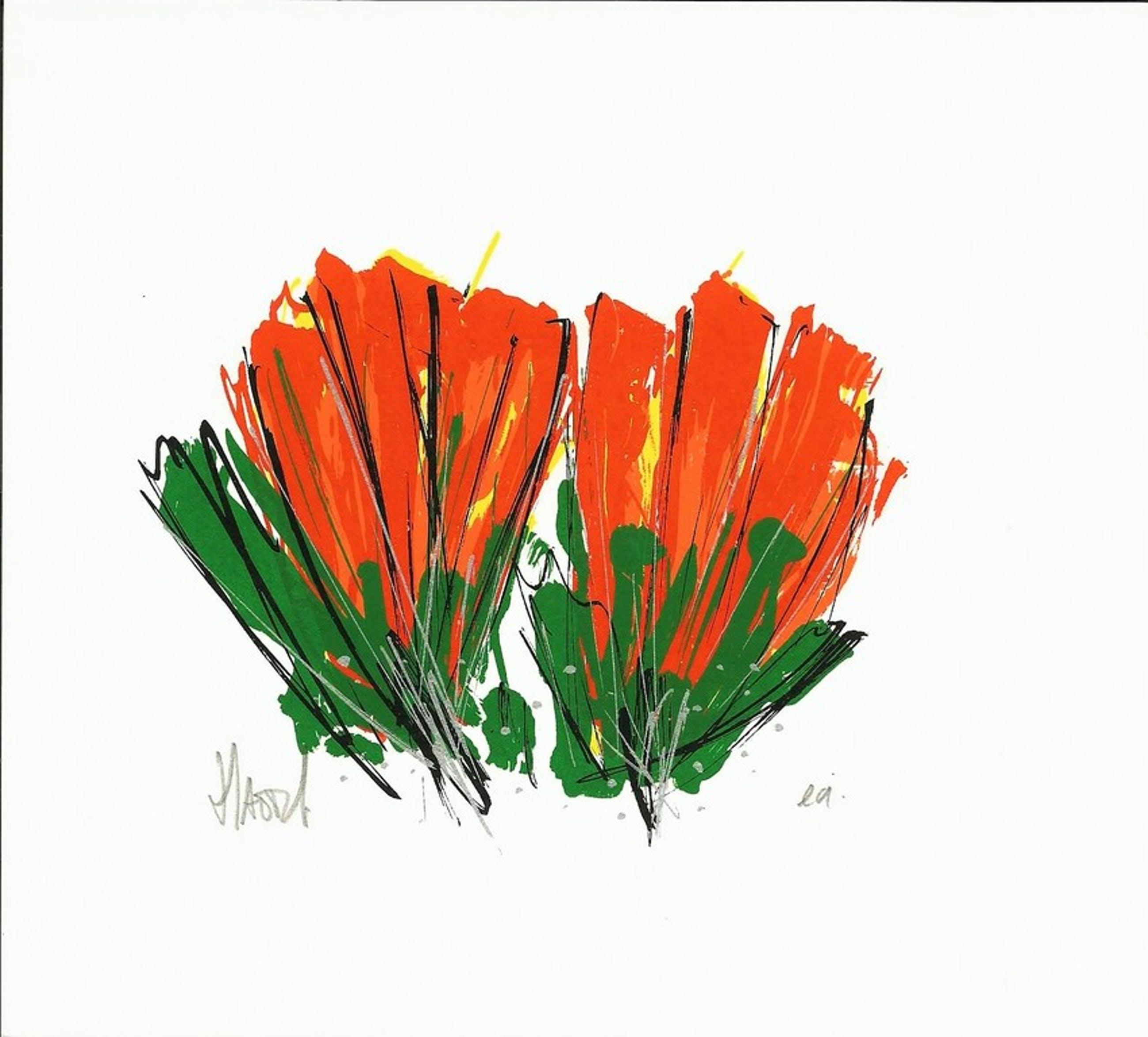 Zeefdruk van Ad van Hassel - Rode tulpen kopen? Bied vanaf 1!