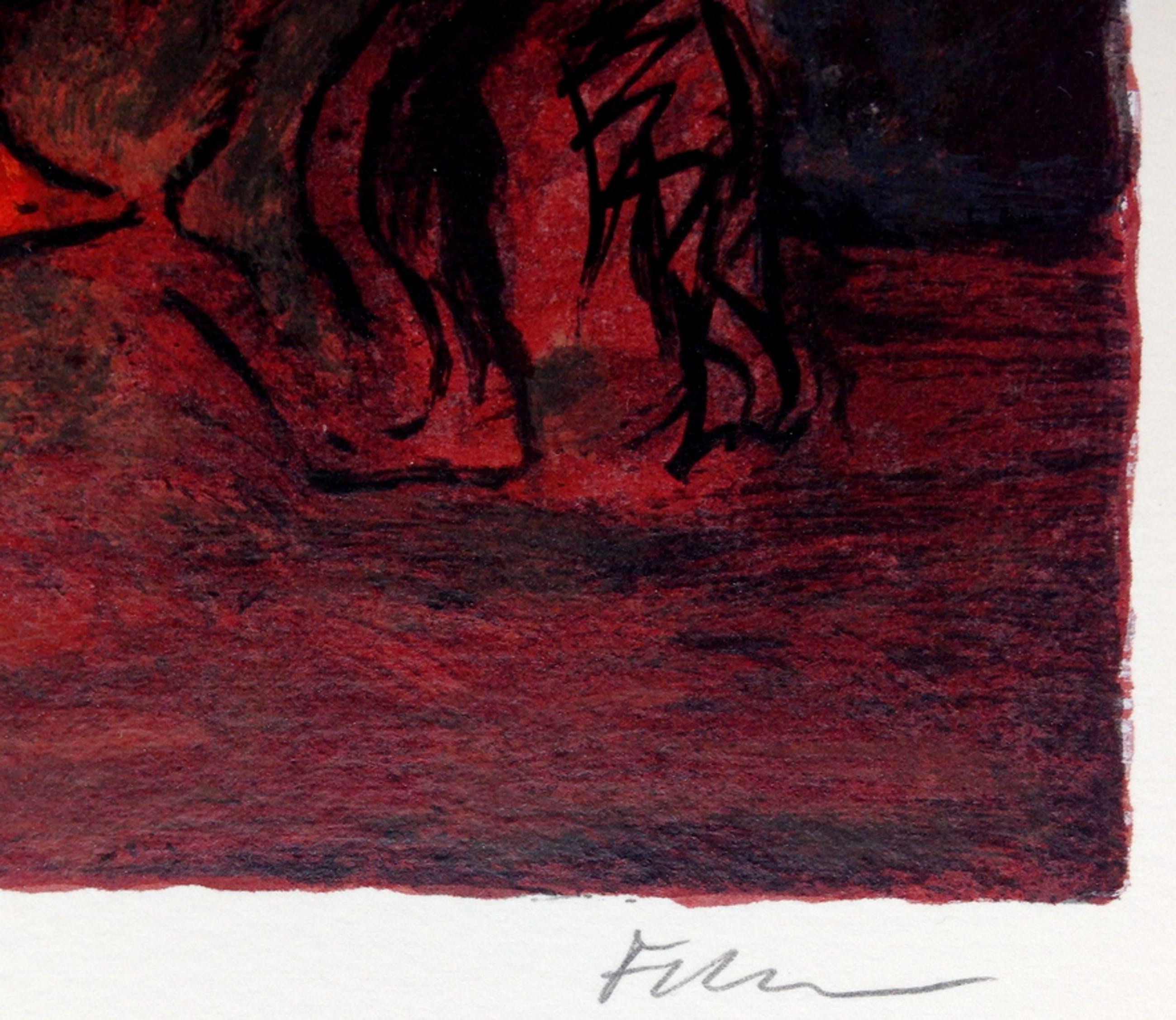 Luis Filcer, Lithografie uit 1994, Handgesigneerd kopen? Bied vanaf 75!