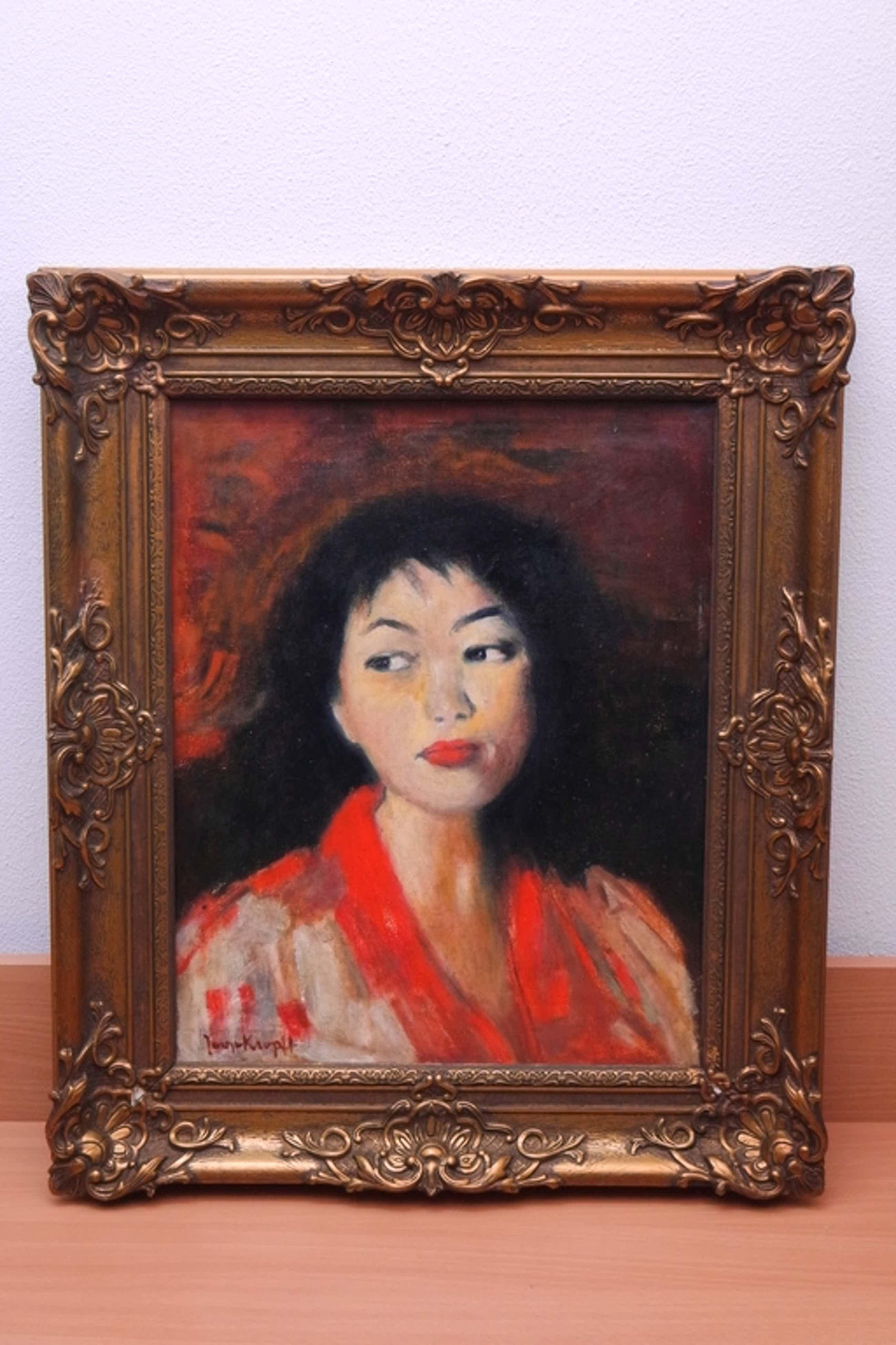 Joop KROPFF (Den Haag 1892 - Delft 1979) - olieverf op doek - vrouwenportret kopen? Bied vanaf 390!