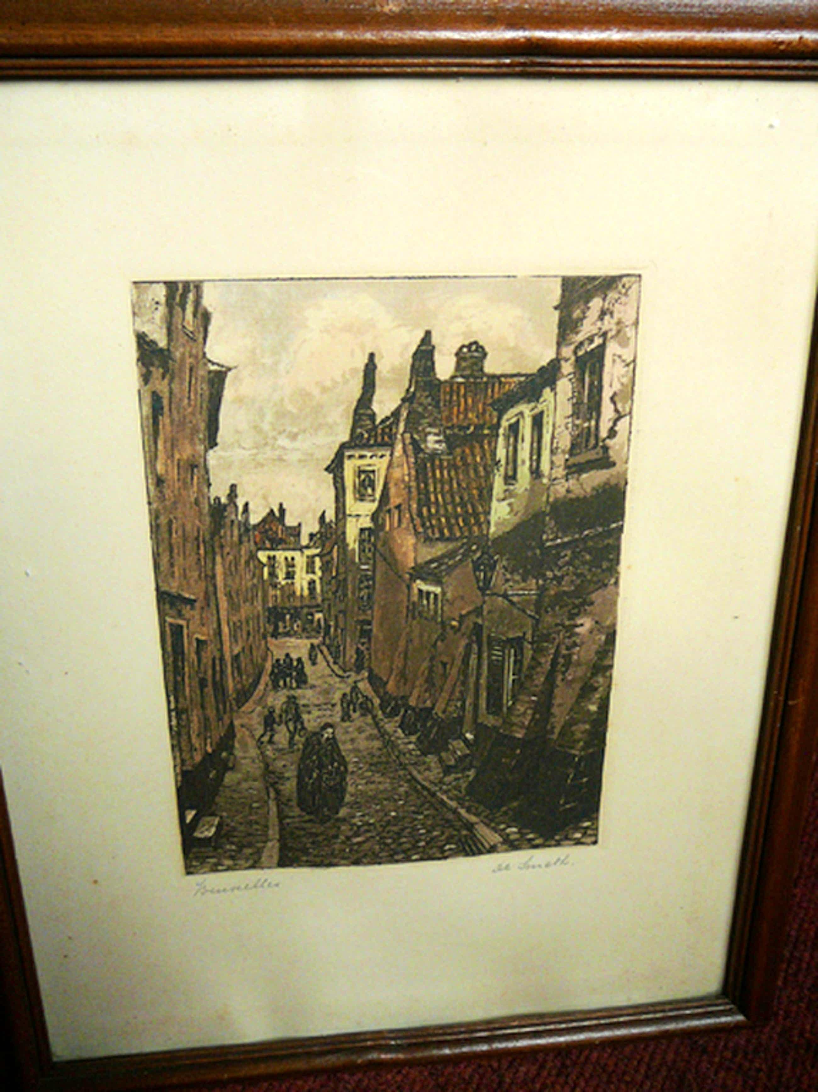 Henri de Smeth: 'Bruxelles' -gesigneerde ets circa 1900- kopen? Bied vanaf 35!