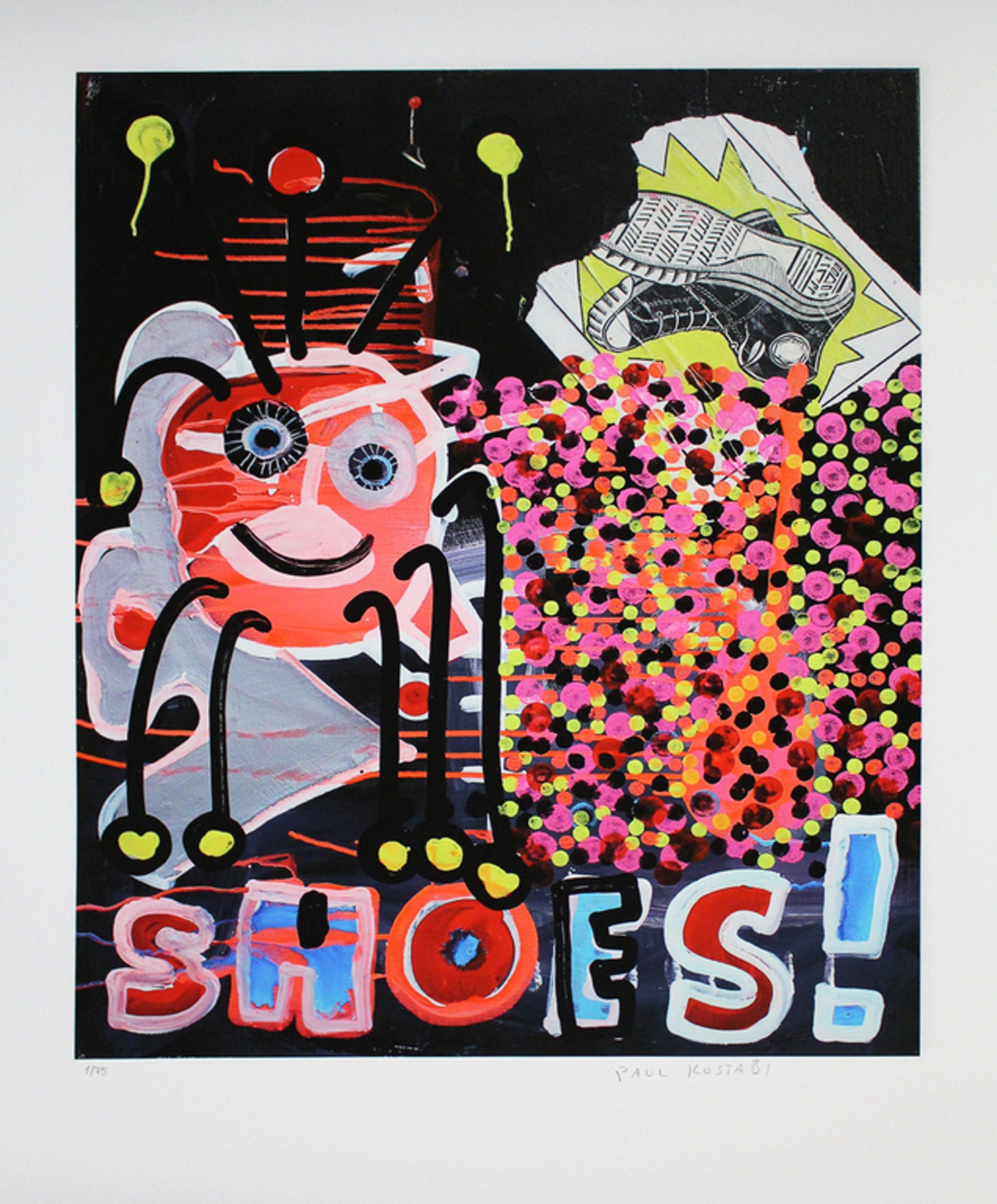 Paul Kostabi - Shoes - Vrolijke, kleurrijke giclee, handgesigneerd en -genummerd kopen? Bied vanaf 39!