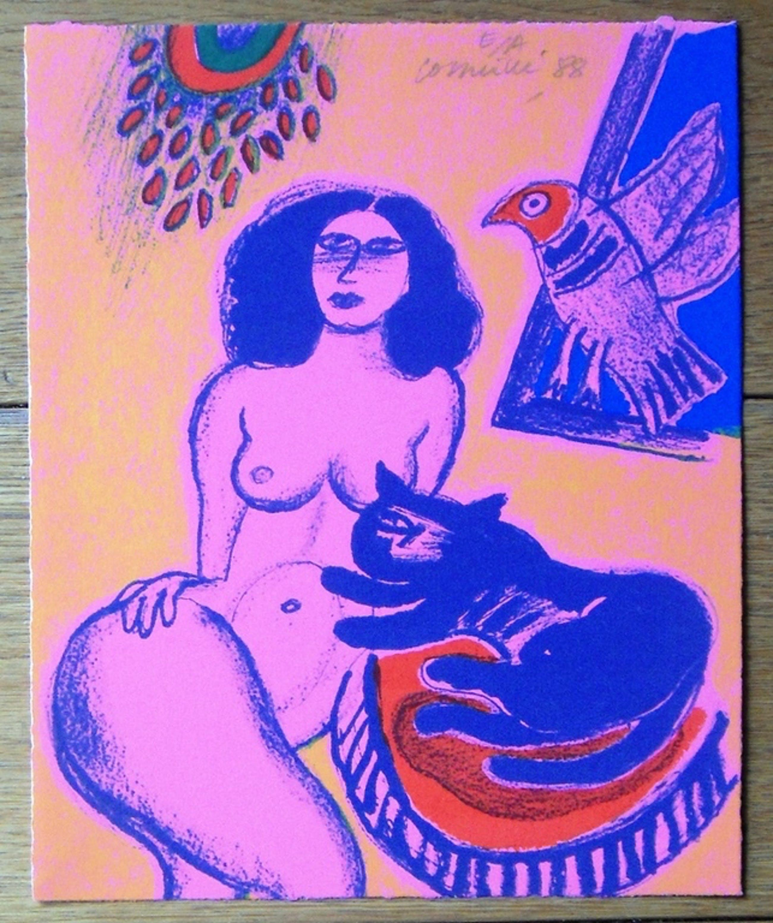 Corneille: vrouw,kat en vogel kopen? Bied vanaf 75!