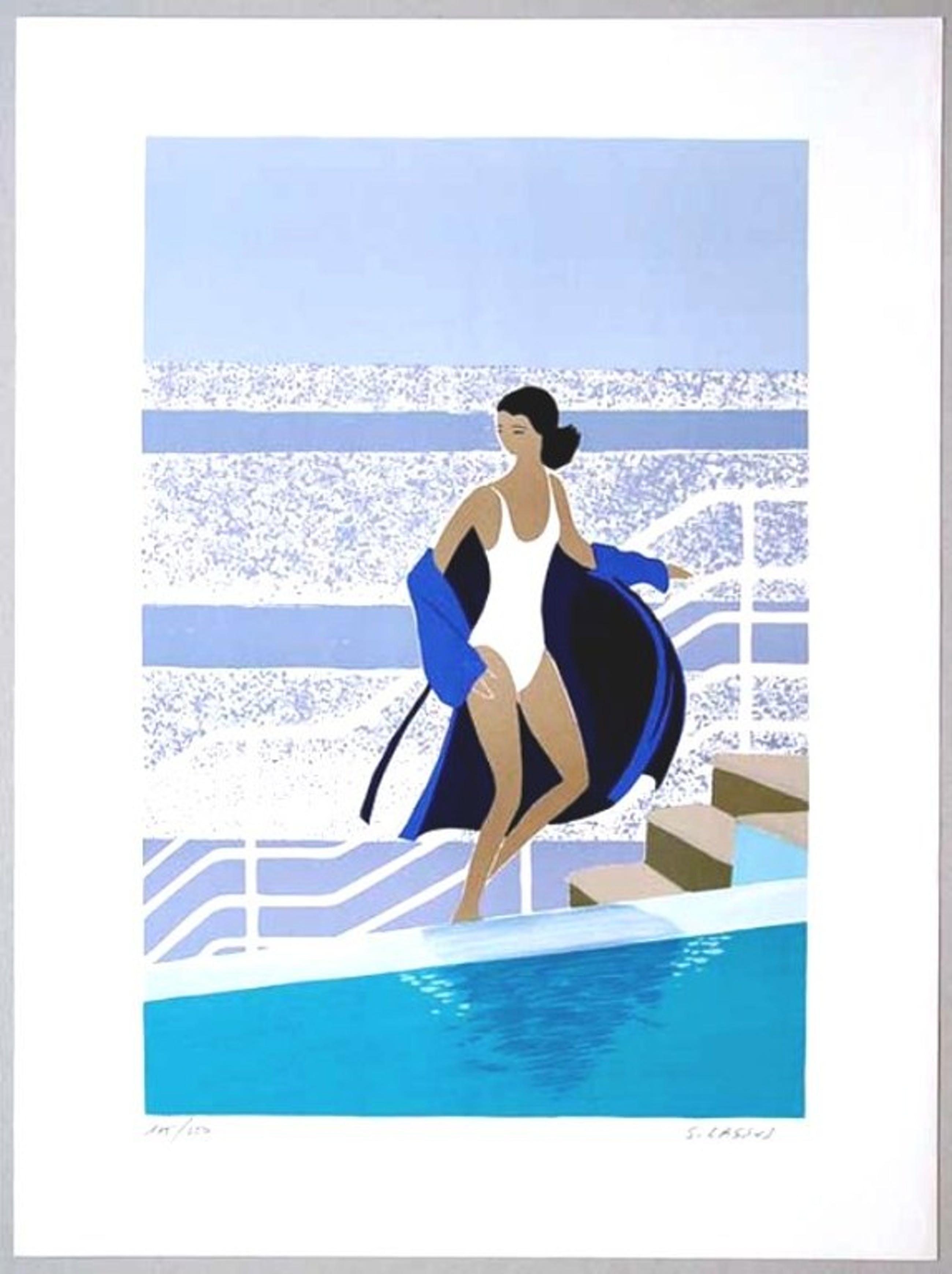 Serge Lassus : A la piscine (lithografie) kopen? Bied vanaf 1!