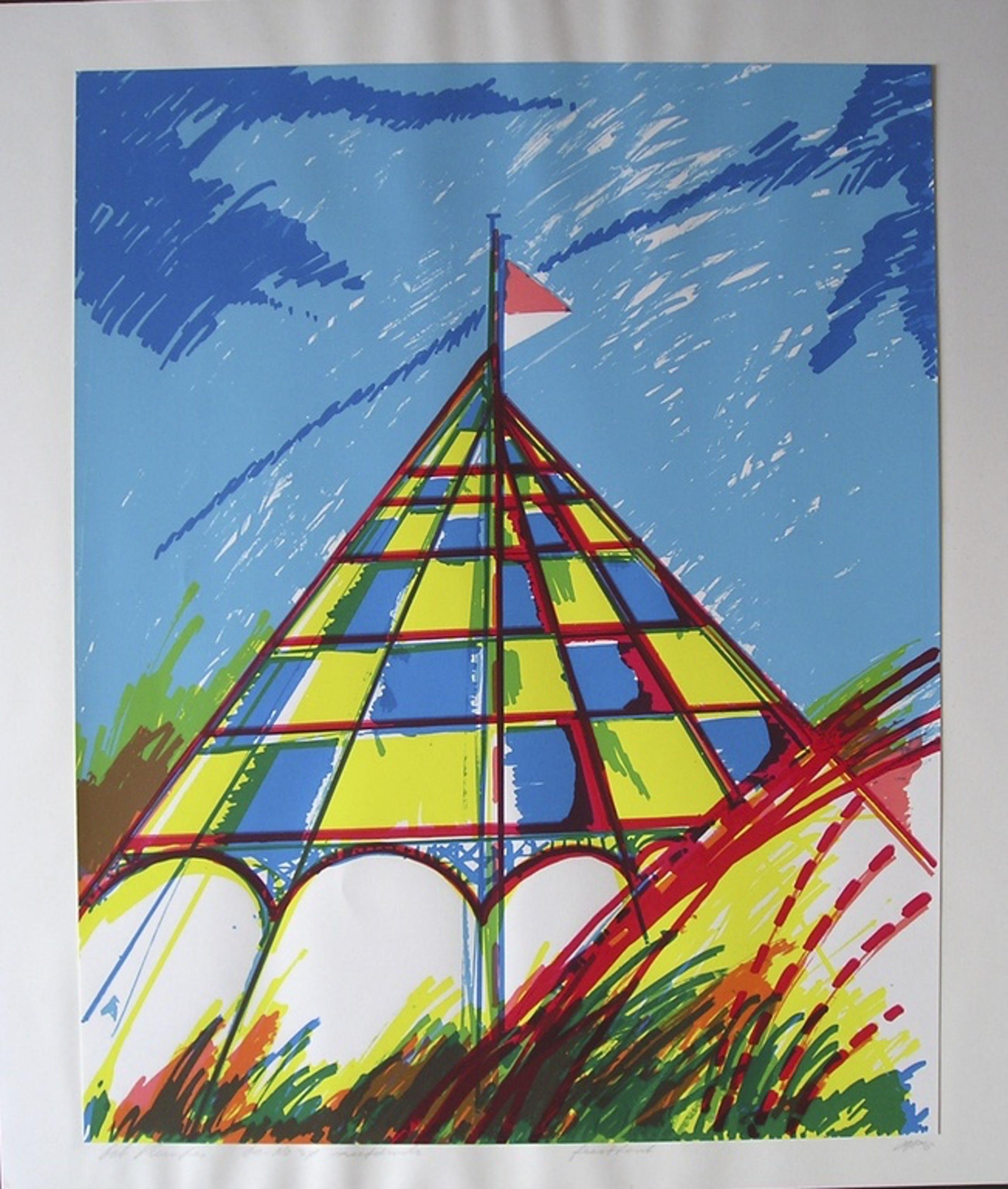 Bob Kemper zeefdruk feesttent 1985 gesigneerd ed.60 kopen? Bied vanaf 50!