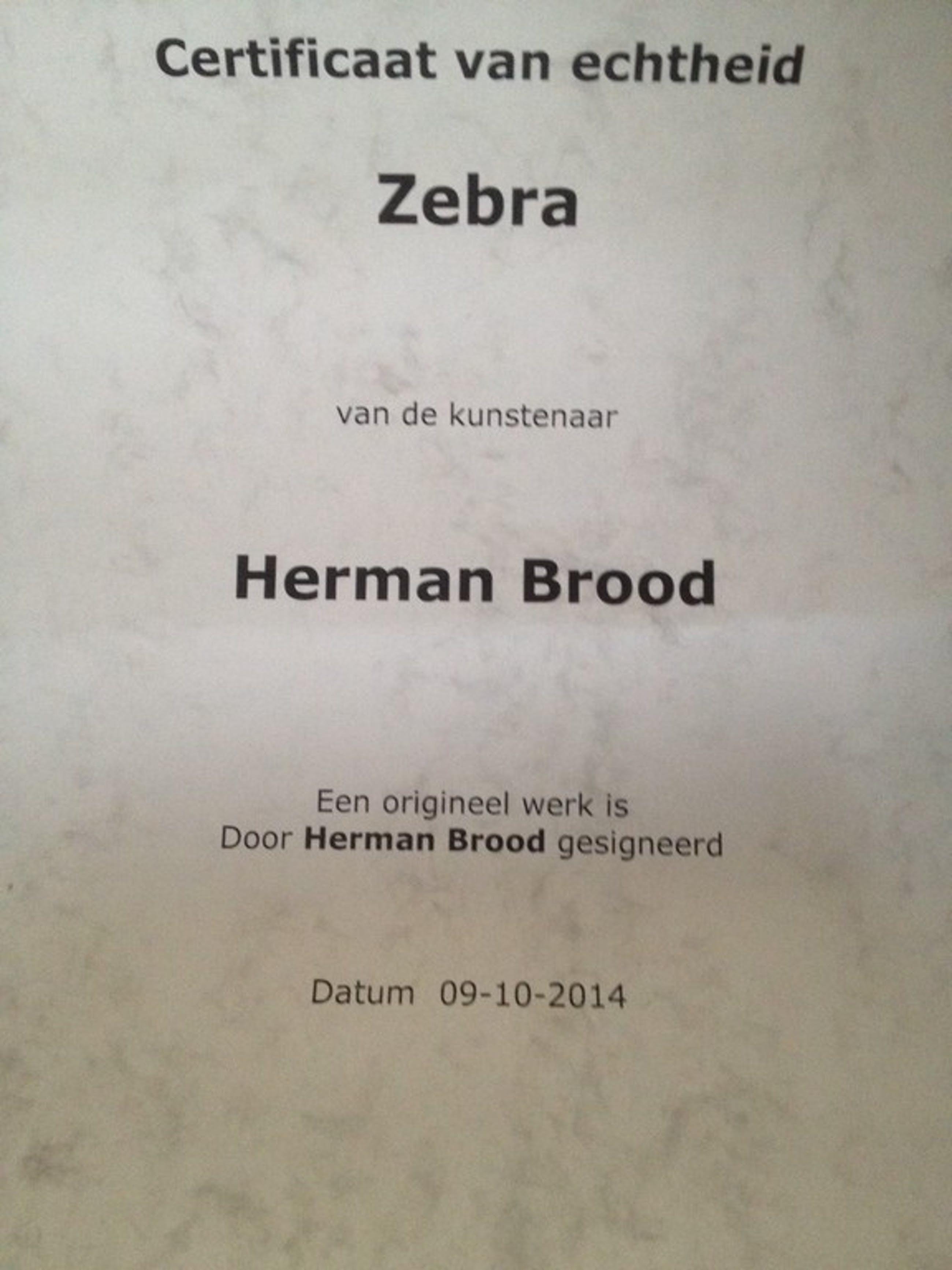 Herman Brood, grote gesigneerde zeefdruk, Zebra kopen? Bied vanaf 200!