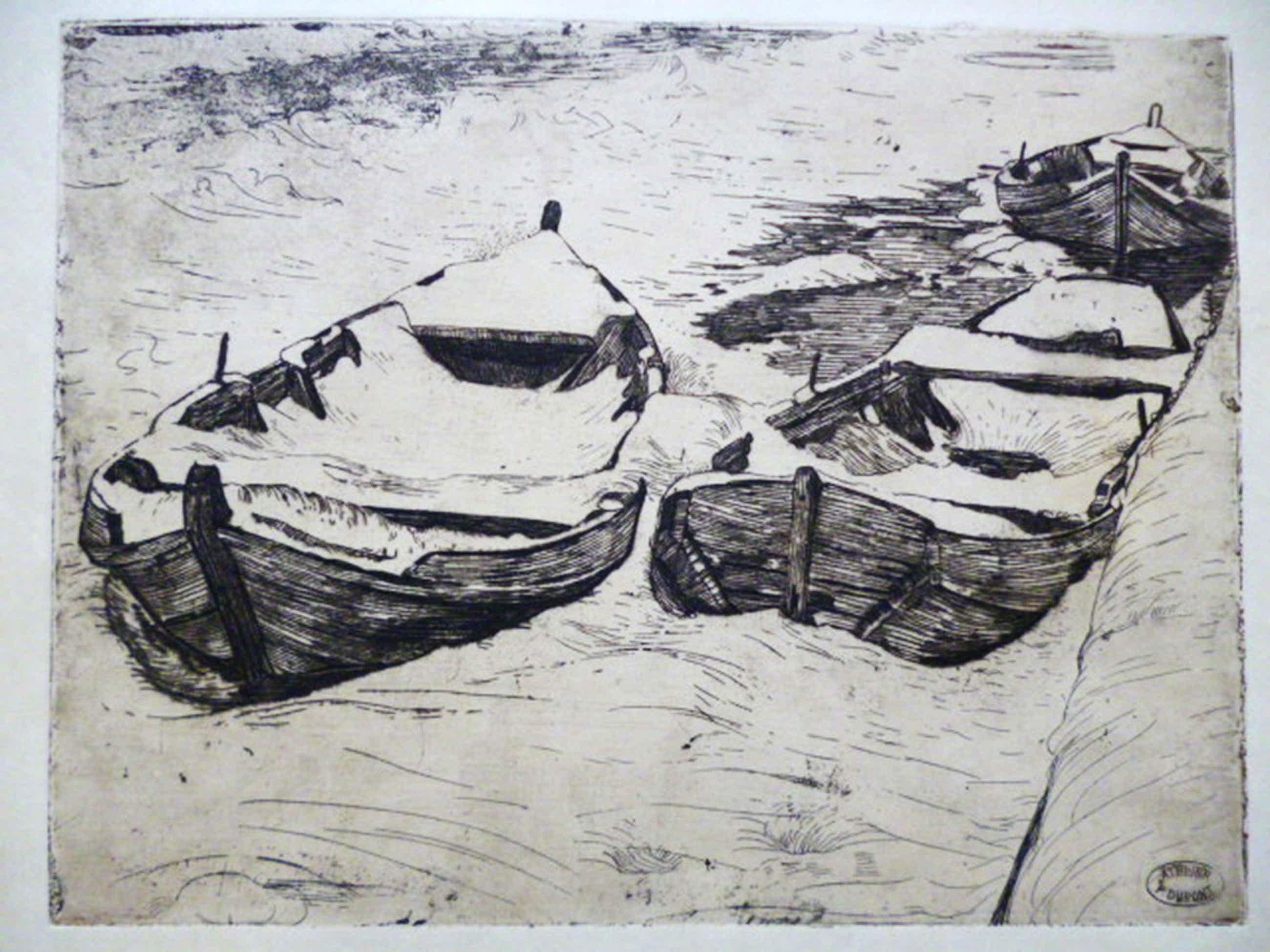 Pieter Dupont - ets - Booten in den winter kopen? Bied vanaf 70!