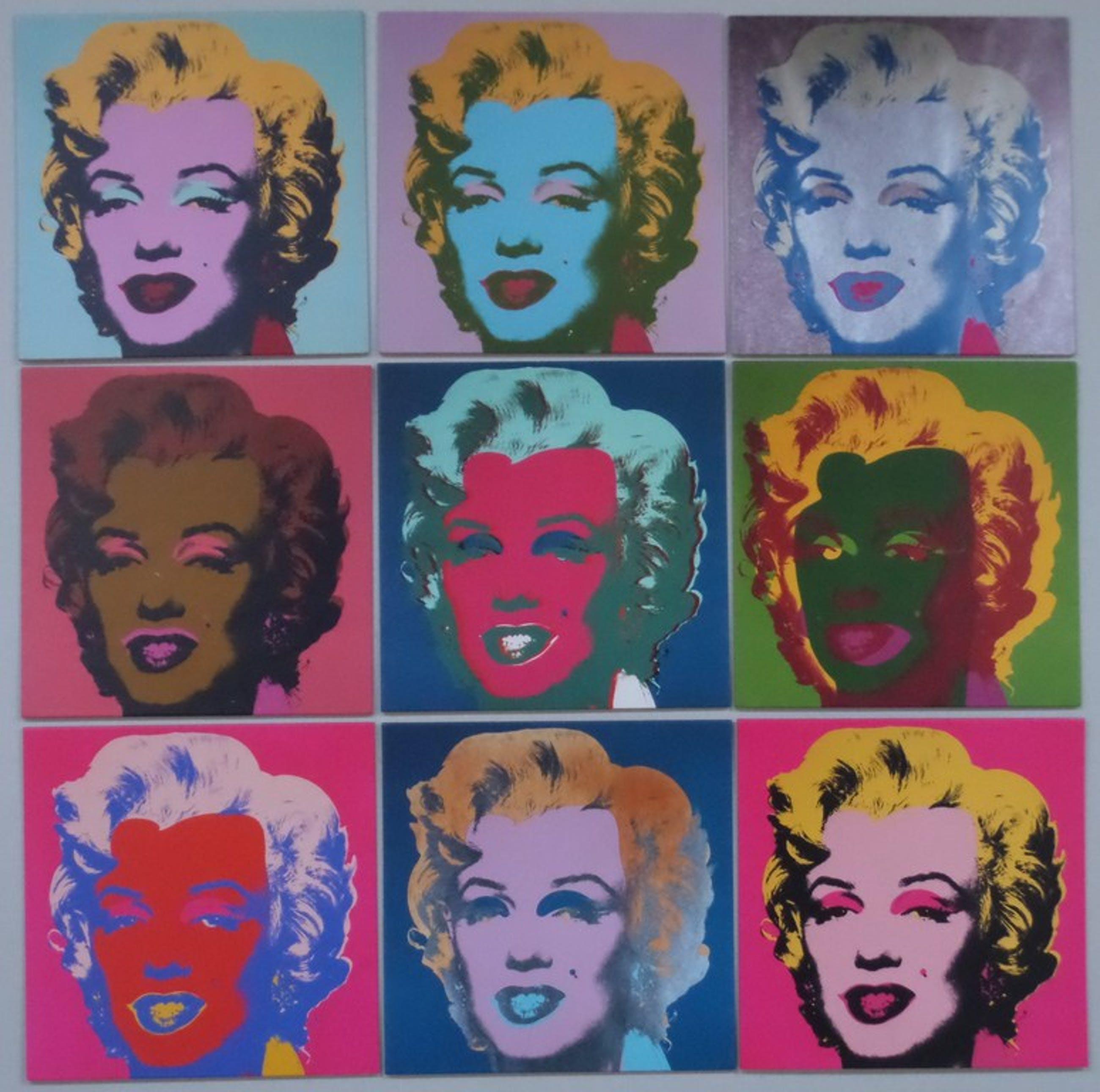 Set van 9 prints van Marilyn Monroe op board in box - The Andy Warhol Foundation kopen? Bied vanaf 149!