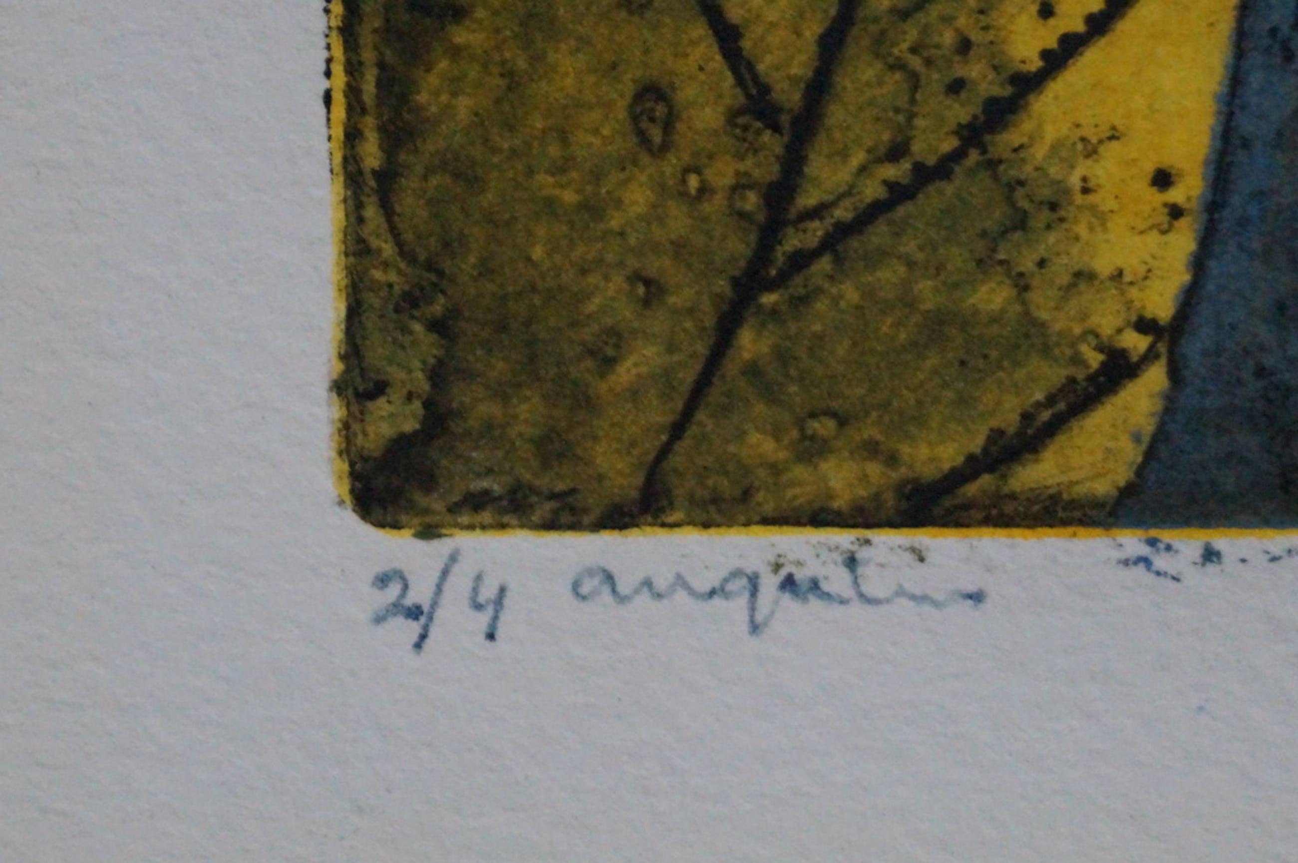 Onbekende kunstenaar - gesigneerde ets - 4 ex. kopen? Bied vanaf 10!