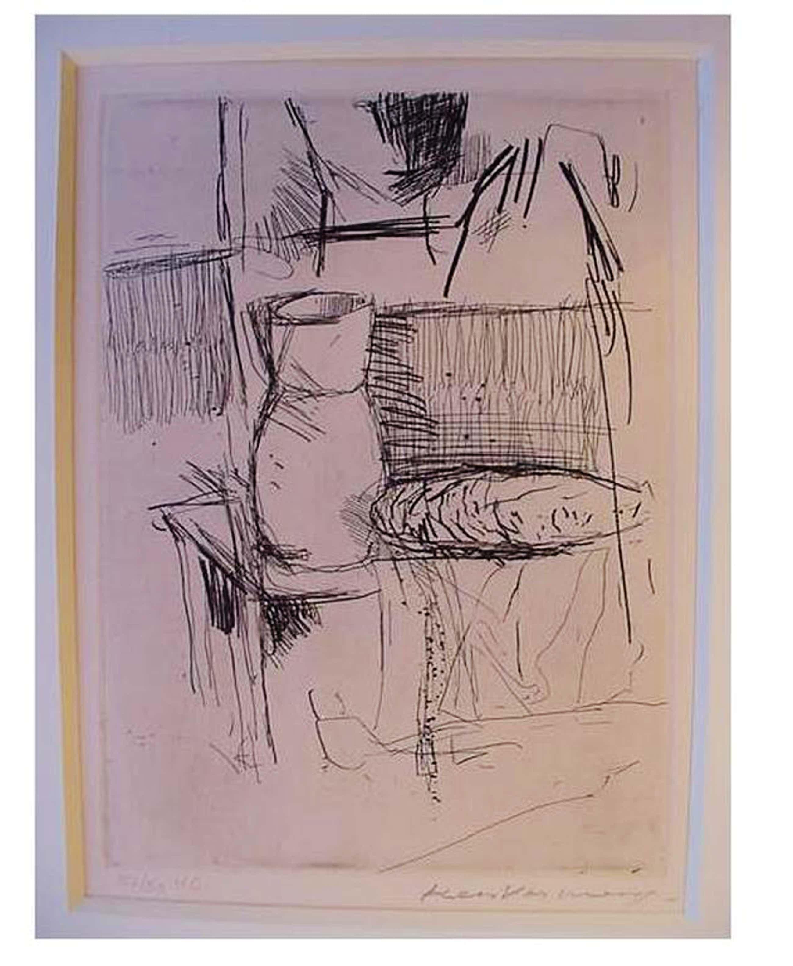 """KEES VERWEY - Ets """"Atelier"""" + luxe uitgave """"Het Atelier Van Kees Verwey"""" 1976 kopen? Bied vanaf 100!"""