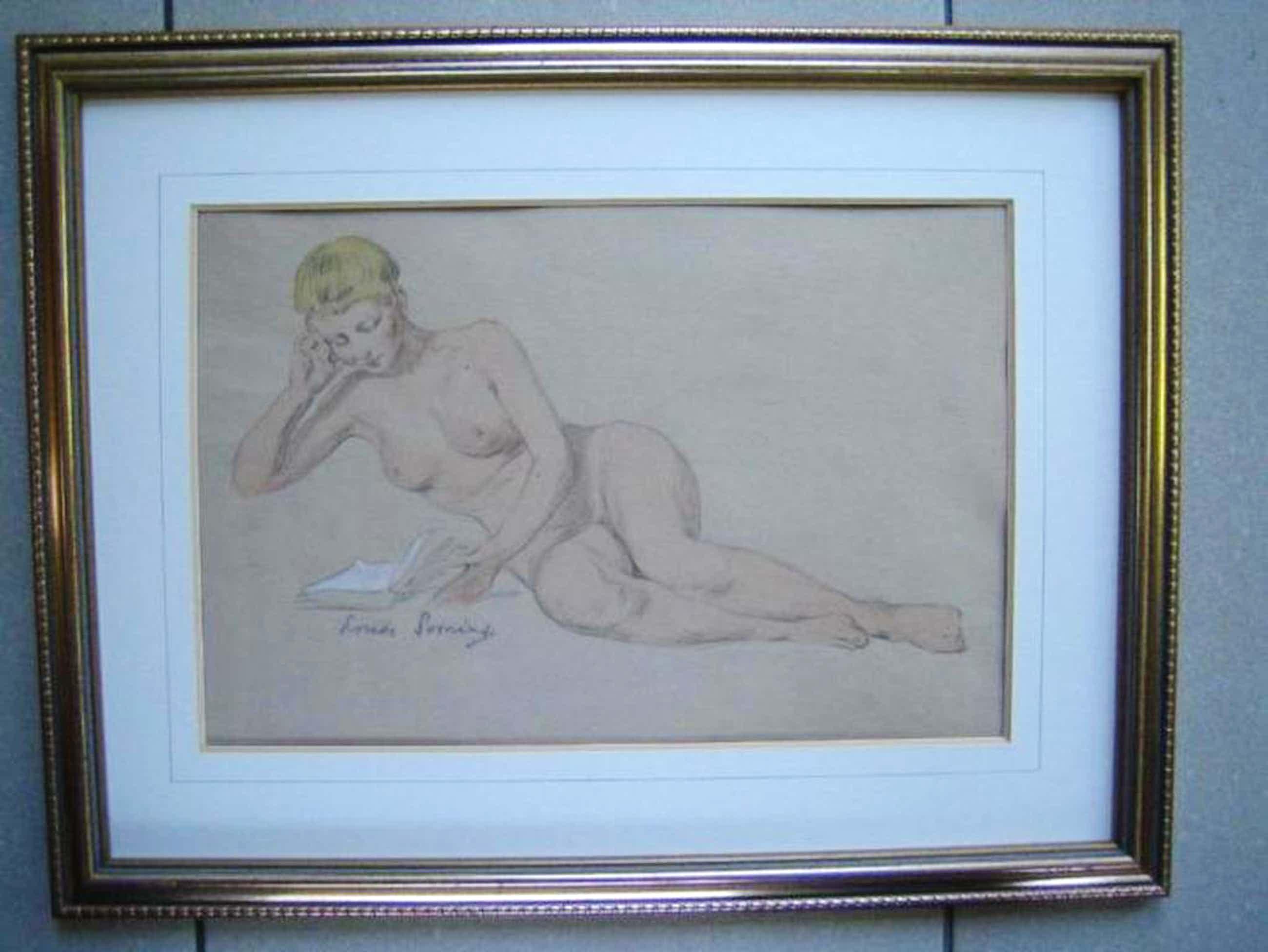Louis Soonius - Vrouwelijk naakt (ingelijst) kopen? Bied vanaf 129!