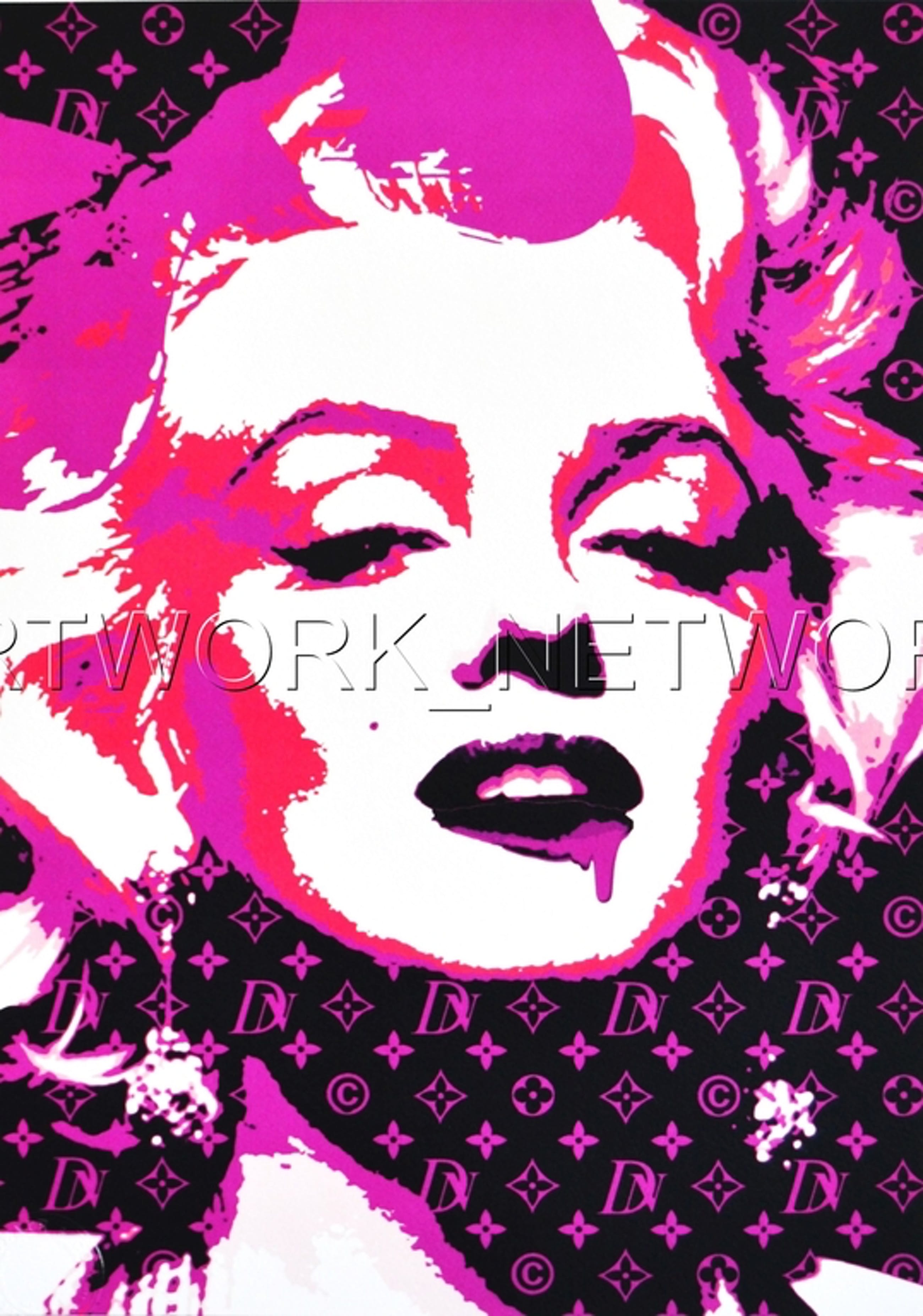 """Large Print Painting """"Monroe Glow Pink"""" Signed Numbered A/P or 1 to 100 with COA kopen? Bied vanaf 1!"""