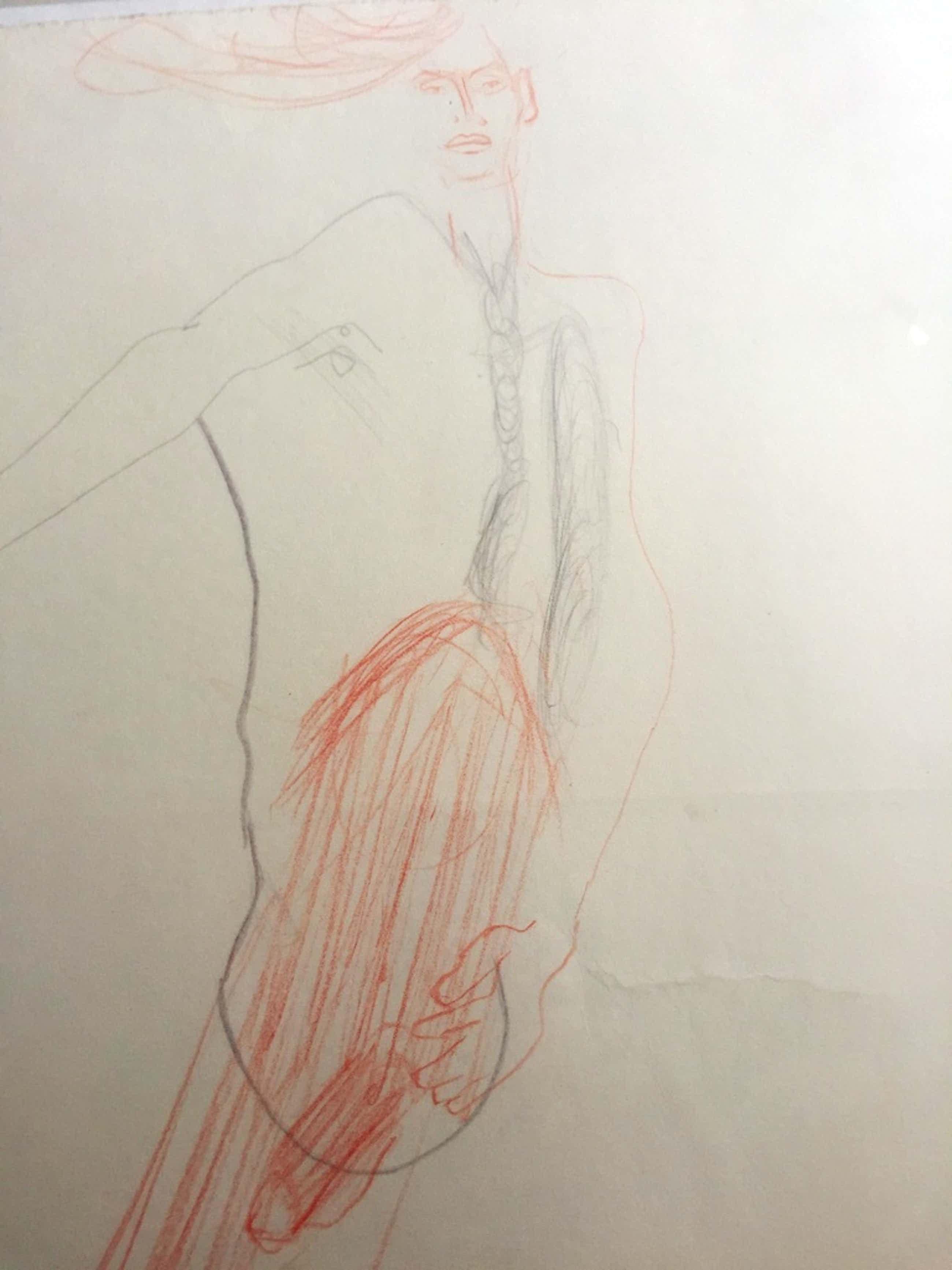Hans Abbink  tekening Titel: Horizont kopen? Bied vanaf 36!