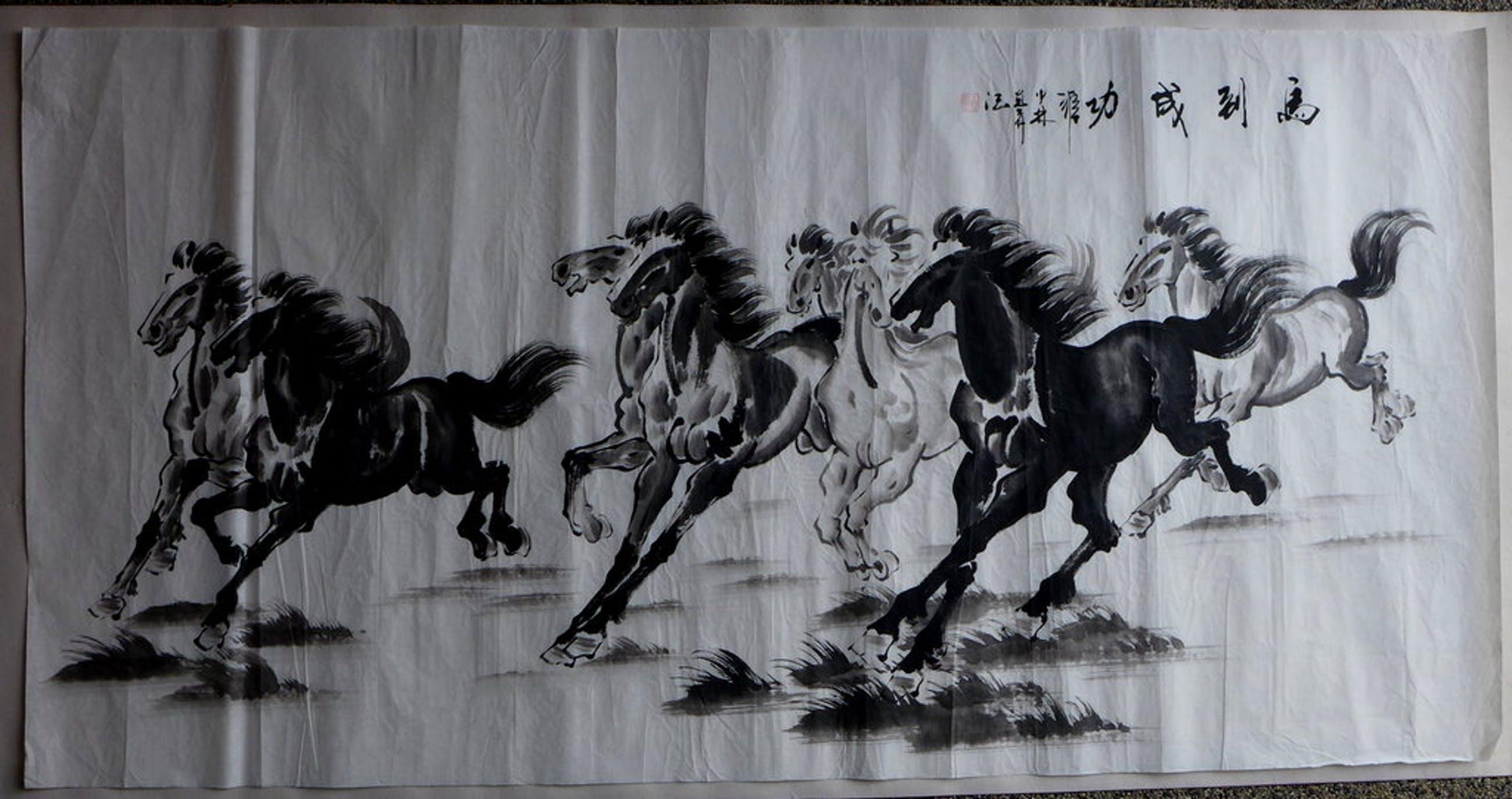Chinese Kunstenaar, gouache op rijstpapier kopen? Bied vanaf 40!